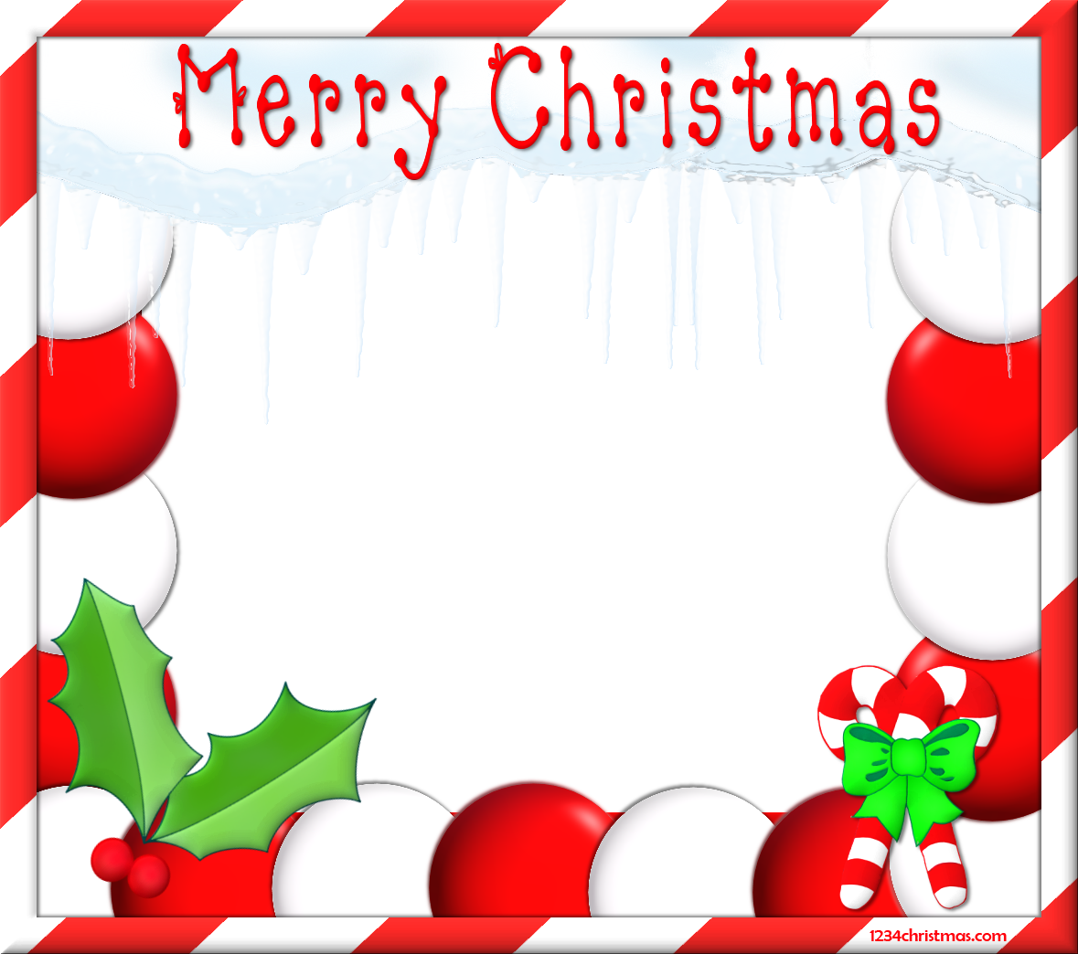 Christmas top border clipart vector library stock Christmas Photo Frame Templates for FREE Download vector library stock