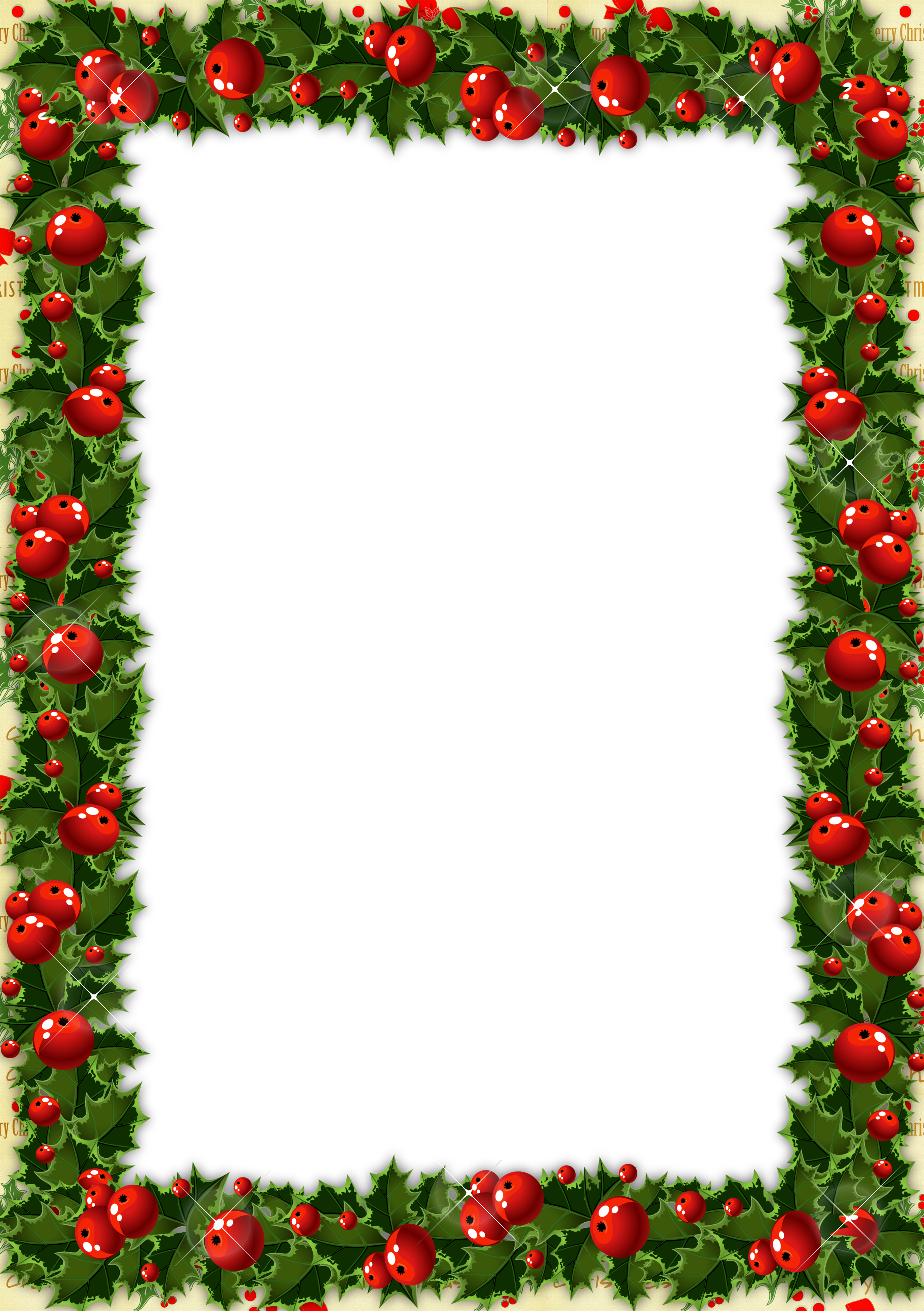Cute school border clipart image free download Transparent Christmas Photo Frame with Mistletoe | Gallery ... image free download