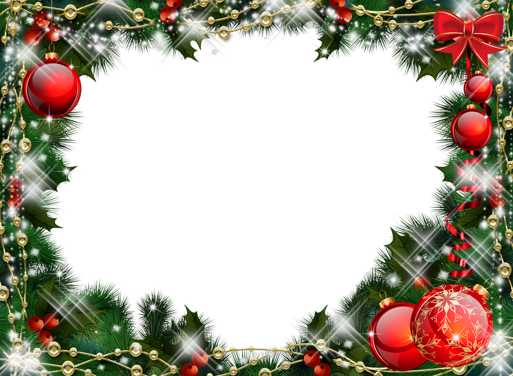 Christmas border frame clipart free royalty free download Green Transparent Christmas Photo Frame with R… | Achieve you ... royalty free download