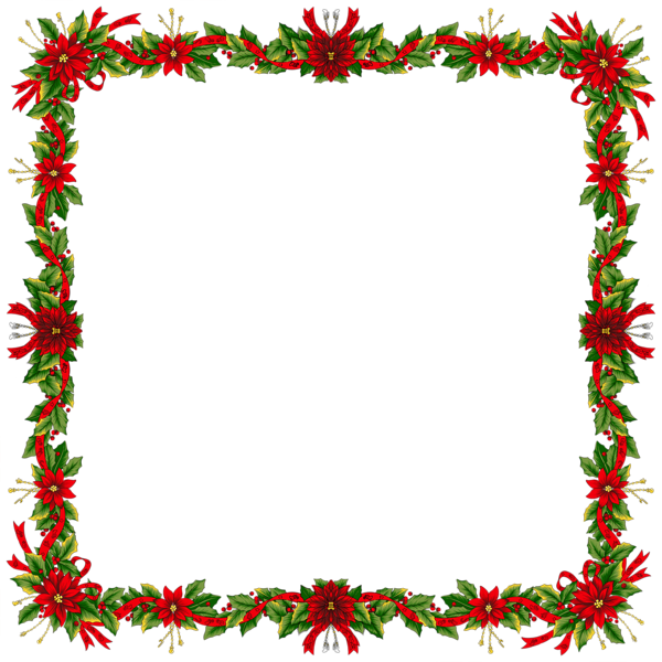 Clipart snowflake festive borders picture royalty free stock christmas frames | Large Christmas Transparent PNG Photo Frame ... picture royalty free stock