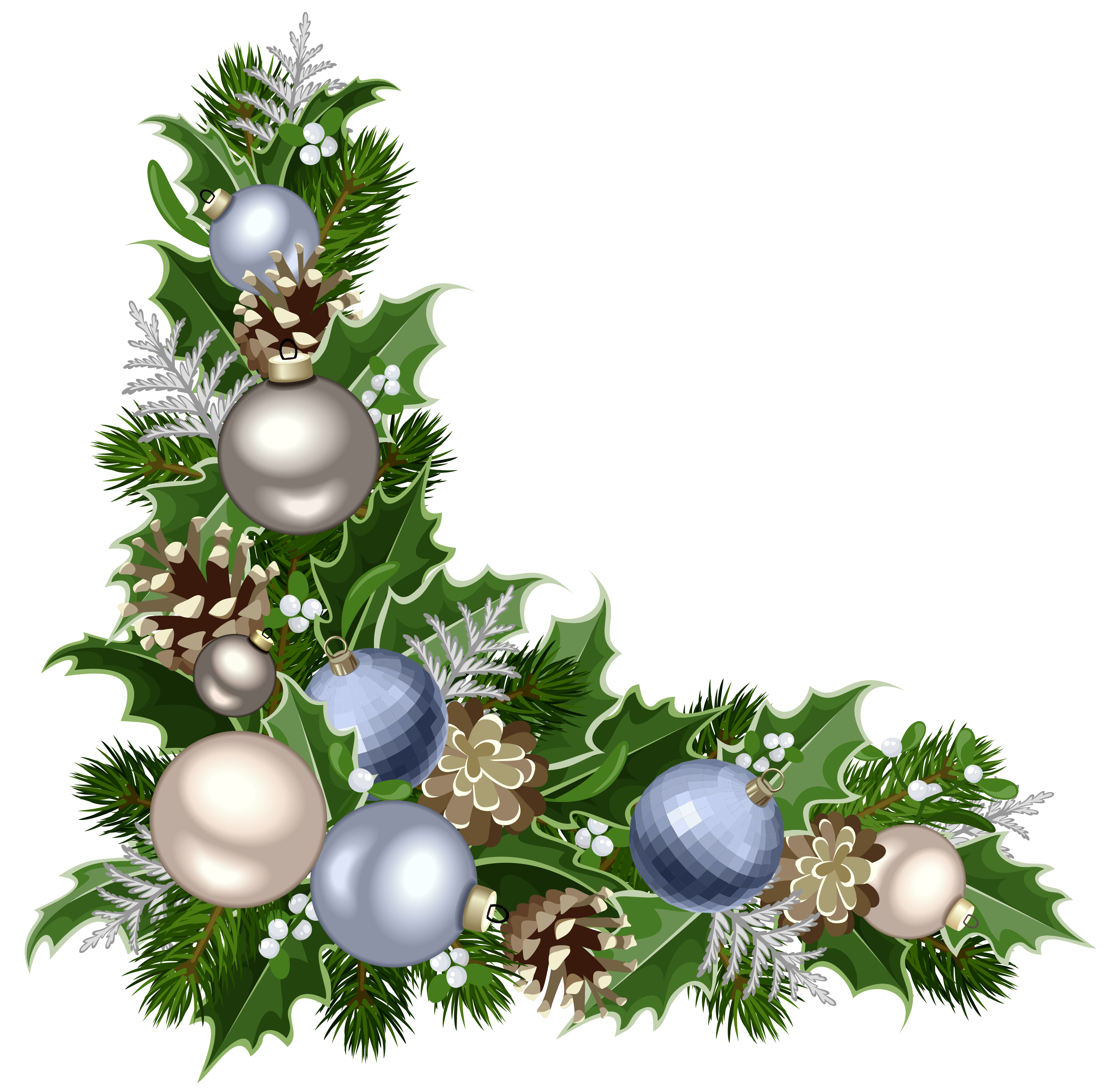 Christmas corner border clipart clipart freeuse stock Christmas Deco Corner with Decorations PNG Picture | Gallery ... clipart freeuse stock