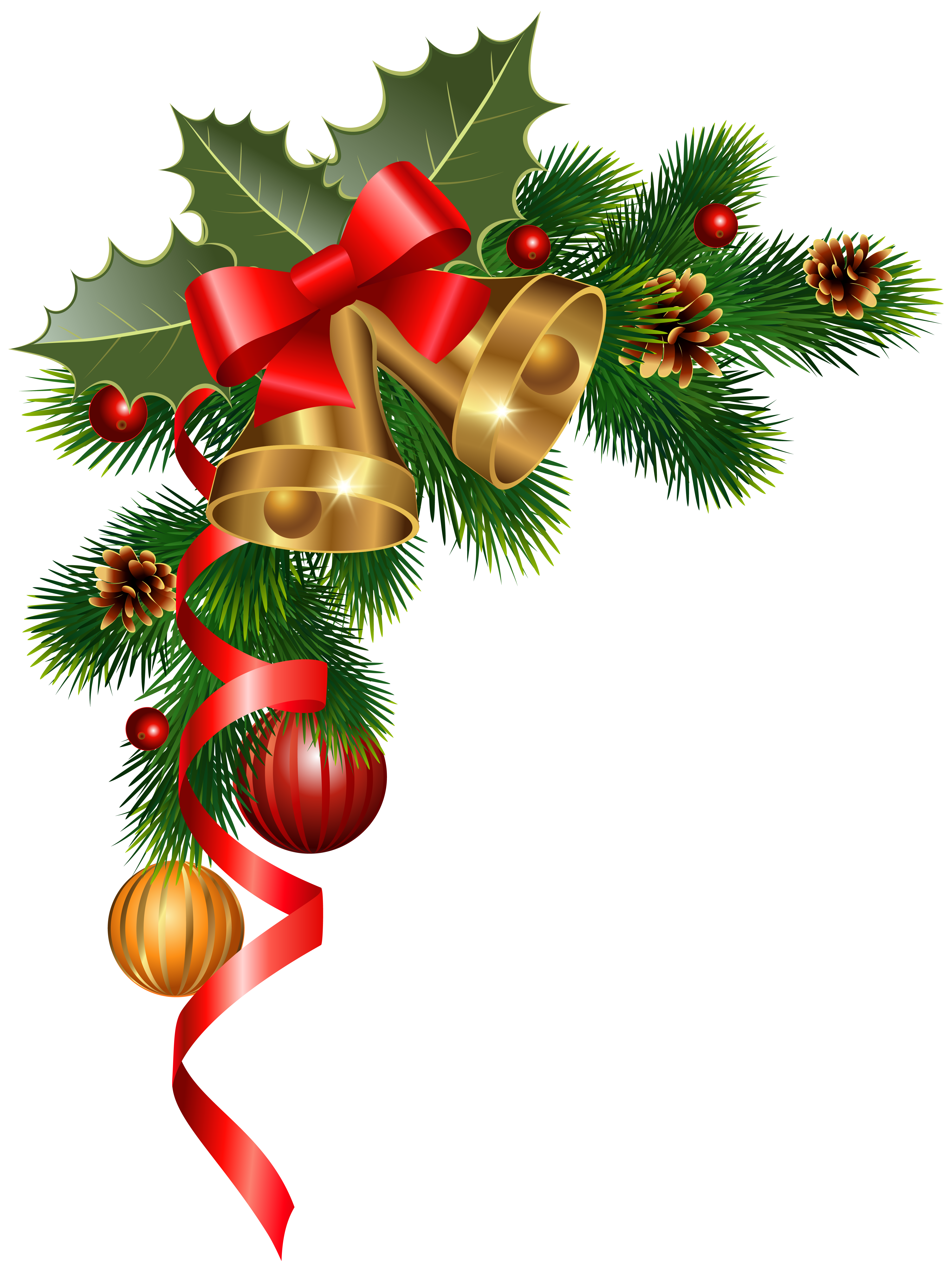 Christmas ornaments clipart border vector Christmas Corner Decoration PNG Clipart Image | Gallery ... vector
