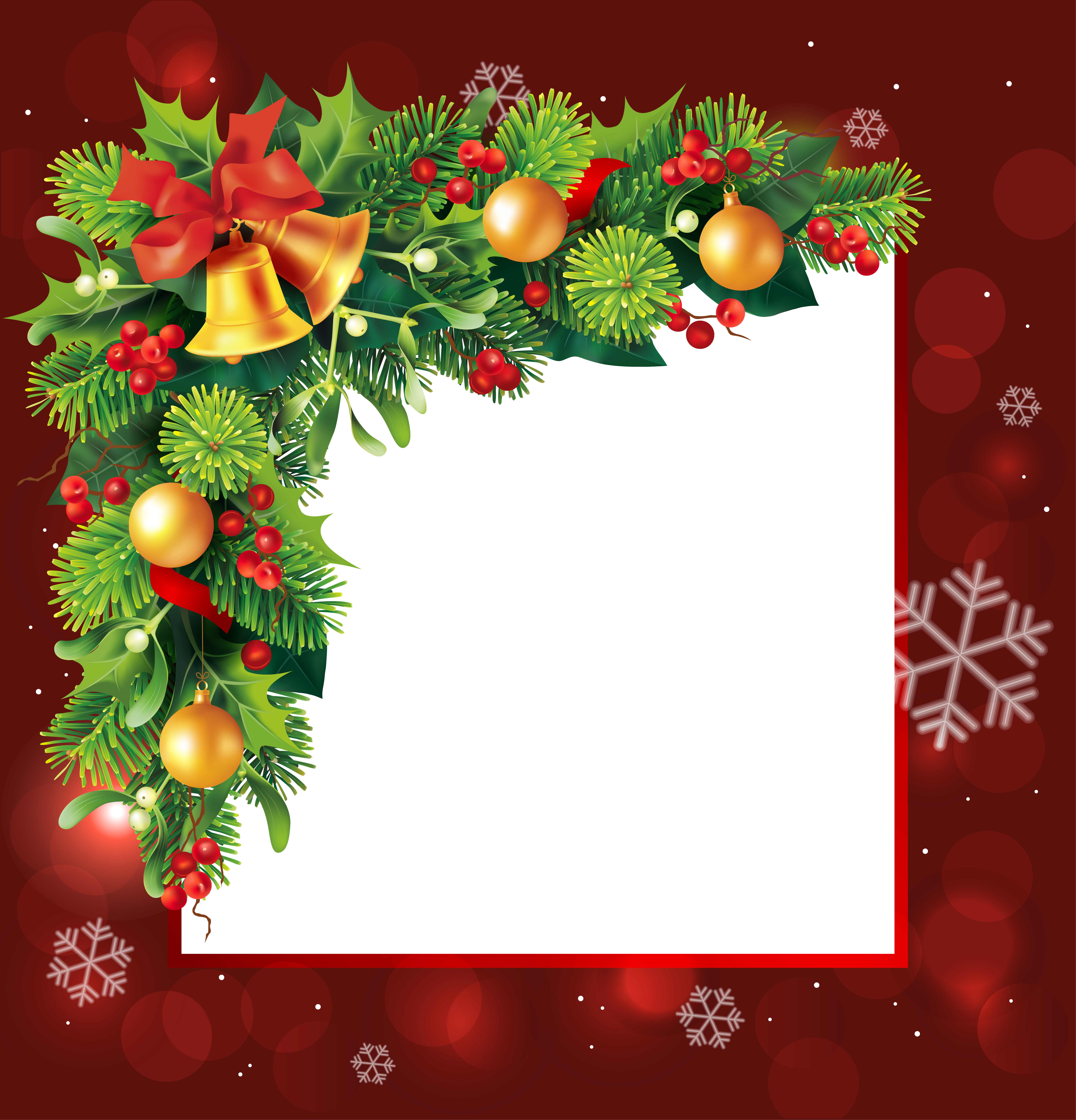 Christmas borders clipart free svg free stock Red Christmas Transparent PNG Border Frame | Gallery Yopriceville ... svg free stock