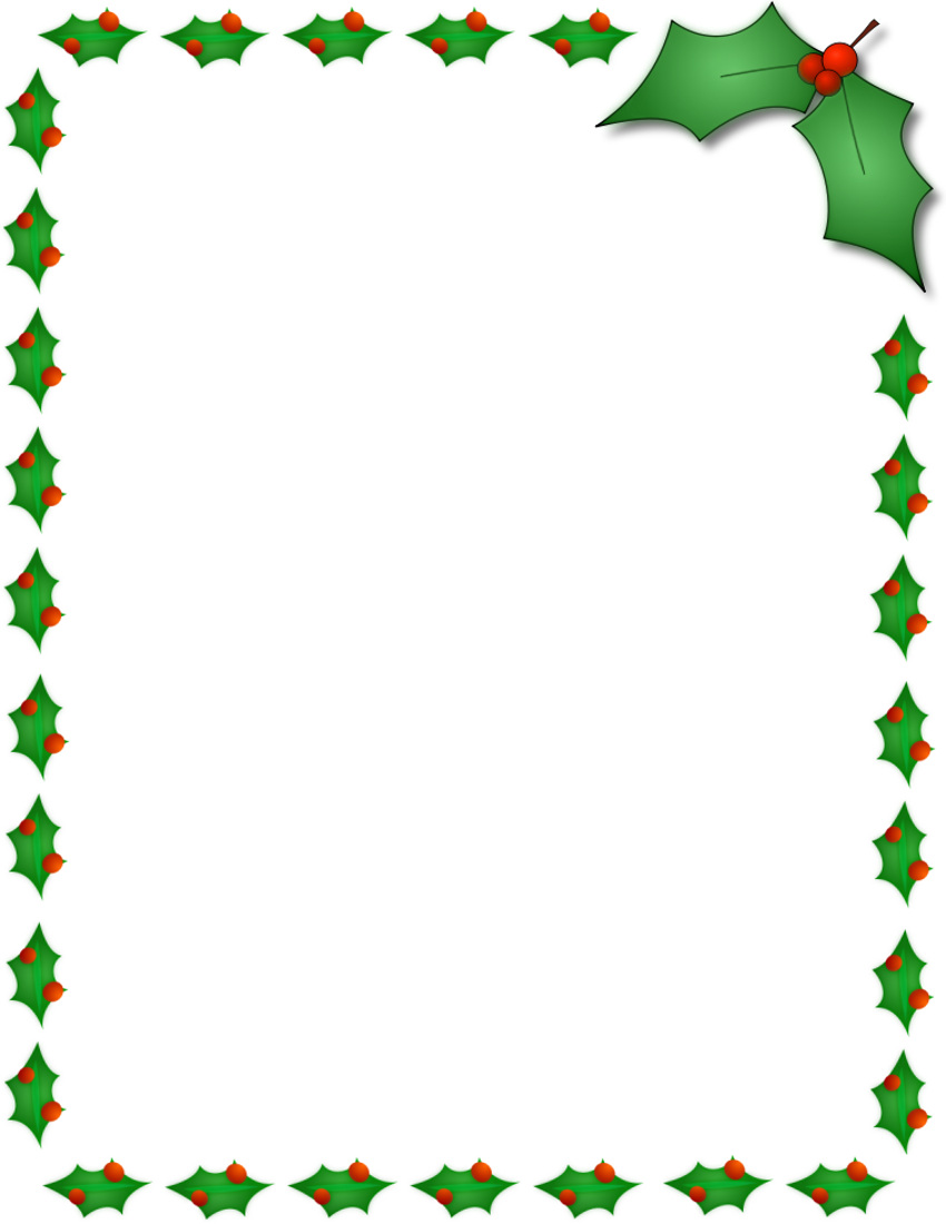 Christmas borders free download. Border clip art word