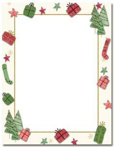 Christmas borders free printables graphic free stock Candy Cane Holly Letterhead Christmas Stationery | X-MAS/CLIPART ... graphic free stock