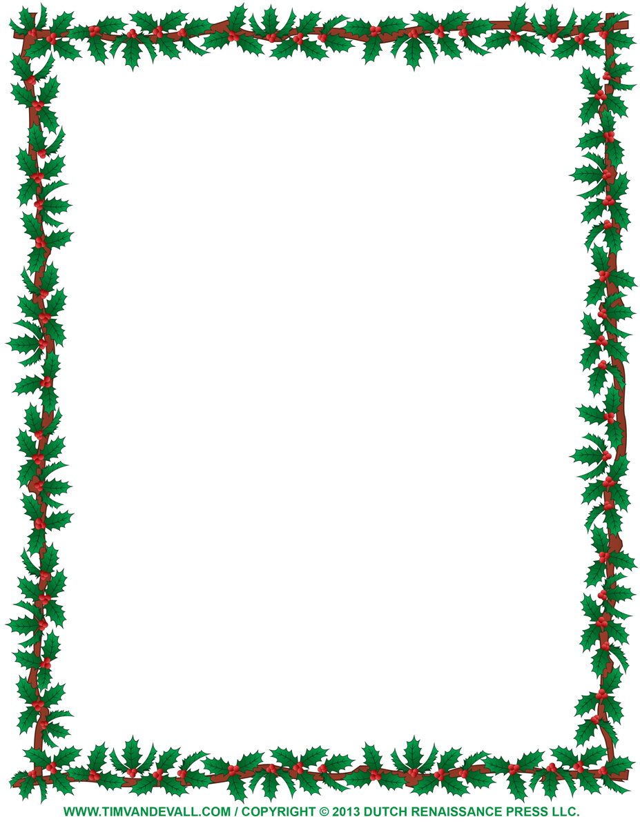 Christmas borders free printables clipart black and white library Christmas Borders For Letters Clipart - Clipart Kid clipart black and white library