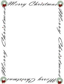 Christmas borders free printables clip free stock Candy Cane Holly Letterhead Christmas Stationery | X-MAS/CLIPART ... clip free stock