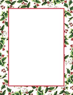 Christmas borders free printables clip free library Candy Cane Holly Letterhead Christmas Stationery | X-MAS/CLIPART ... clip free library