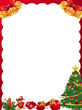 Christmas borders free printables. Holiday and seasonal