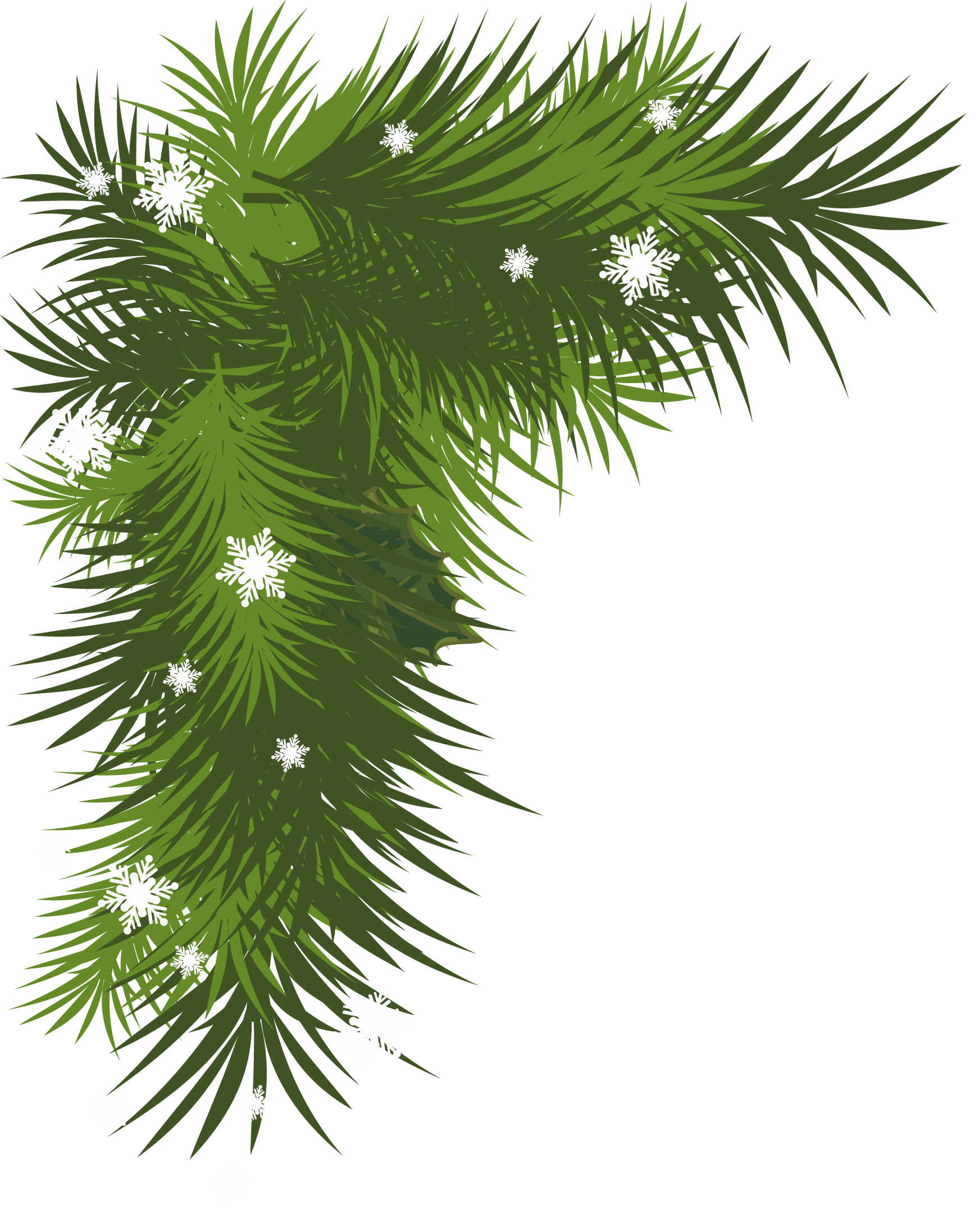 Pine tree branch clipart vector black and white stock Snowy Pine Bough Clipart vector black and white stock