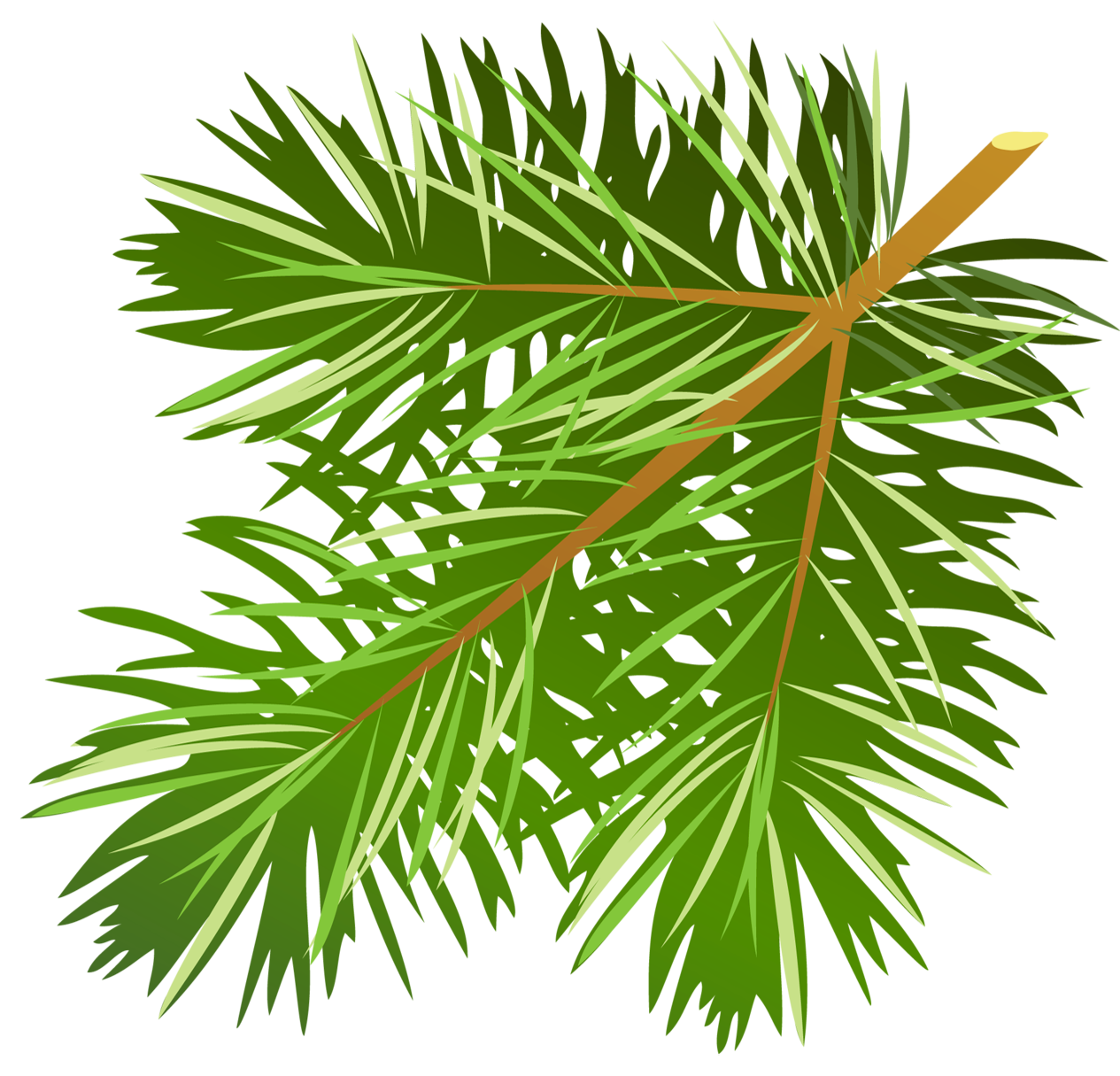 Pine tree branch clipart vector library library Transparent Pine Branch PNG Clipart | Gallery Yopriceville - High ... vector library library