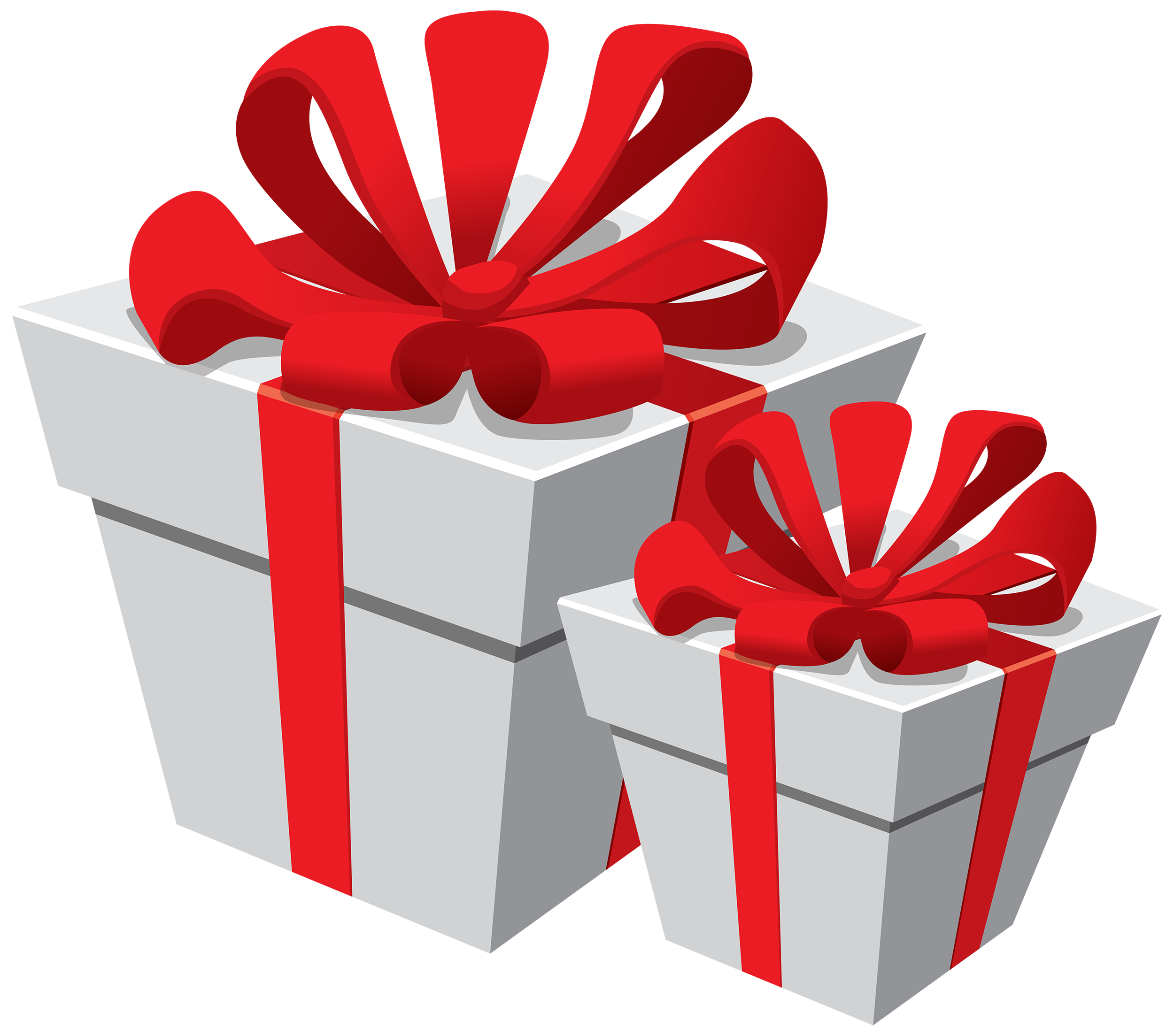 Gift box with money coming out clipart png free stock White Gift Boxes with Red Bow PNG Clipart - Best WEB Clipart png free stock