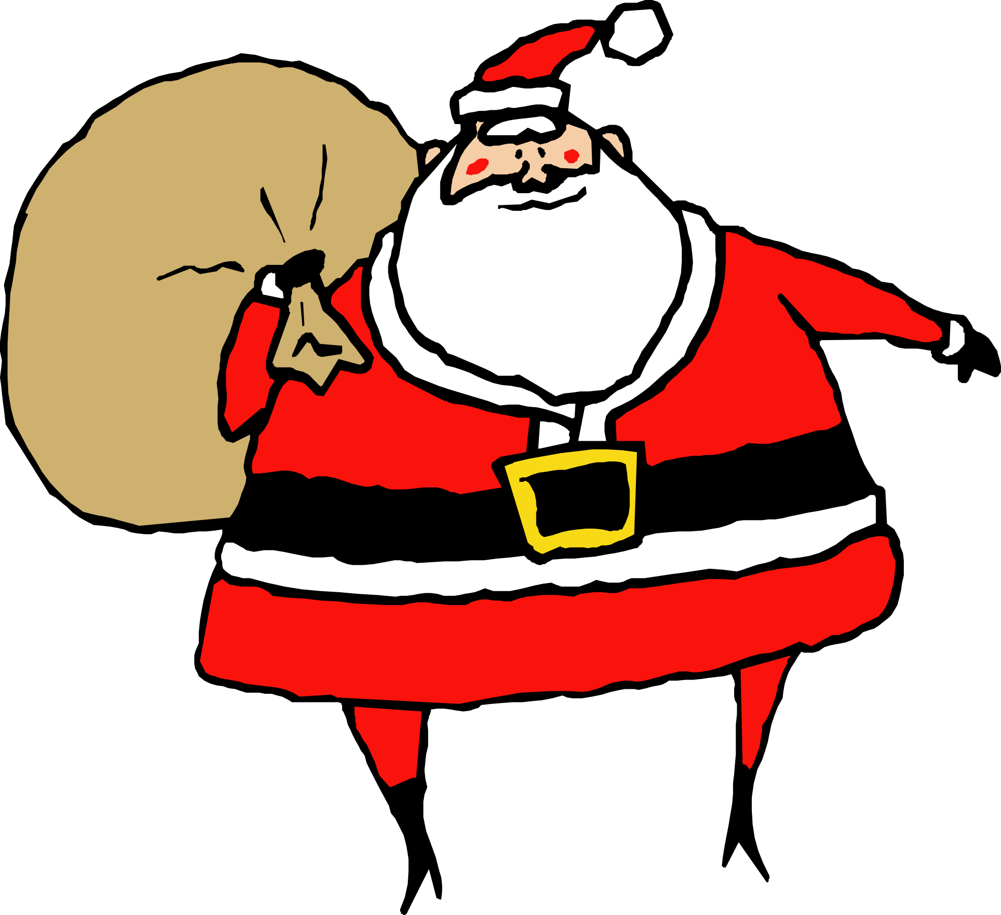 Christmas bowling clipart free stock Printable Santa Claus Clipart (69+) free stock