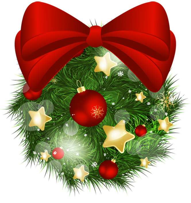 Christmas bows clipart image library library Transparent Christmas Pine Ball with Red Bow PNG Picture | Gallery ... image library library
