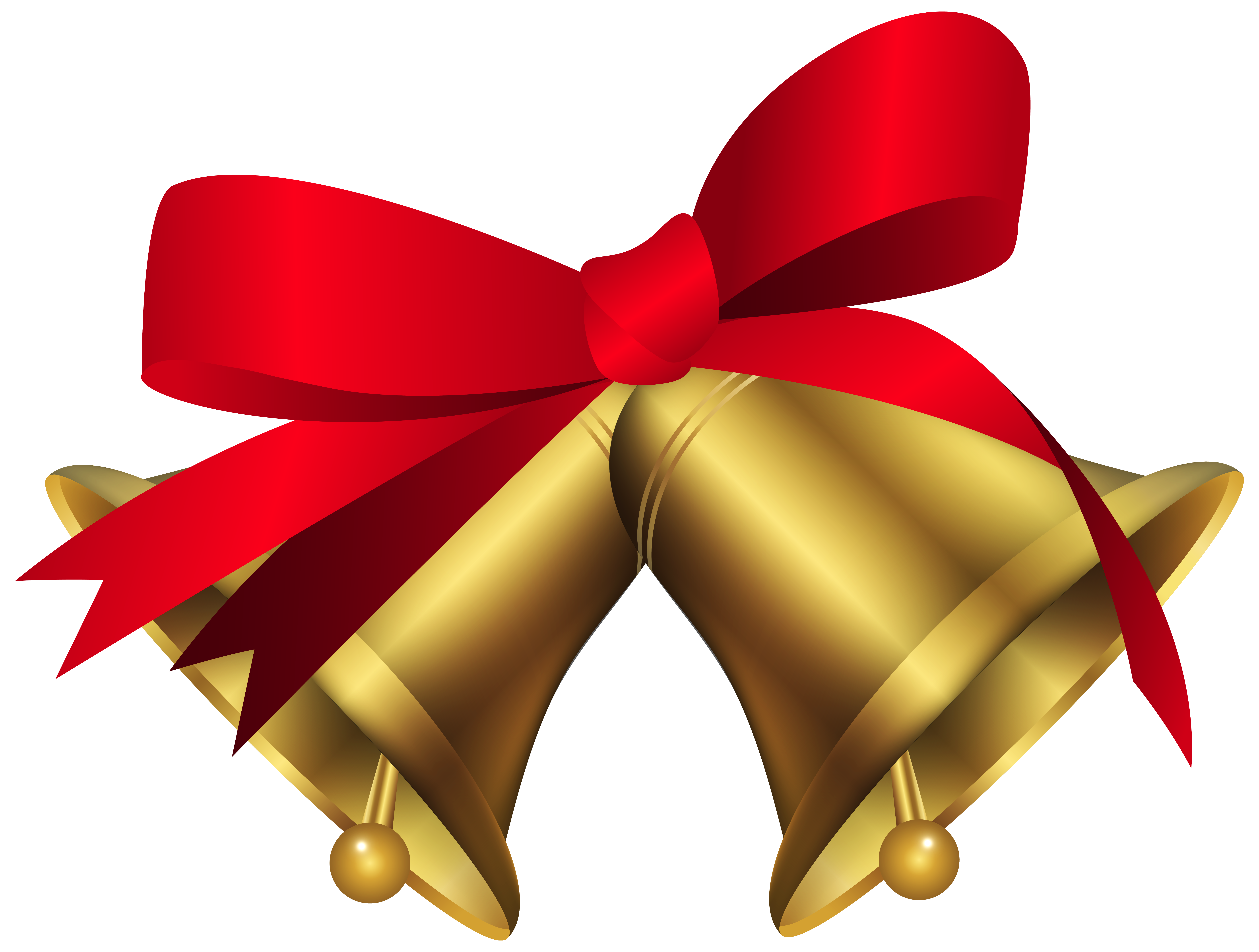 Christmas jingle bell clipart image free stock Christmas Bells with Red Bow PNG Clip Art Image | CHRISTMAS ... image free stock