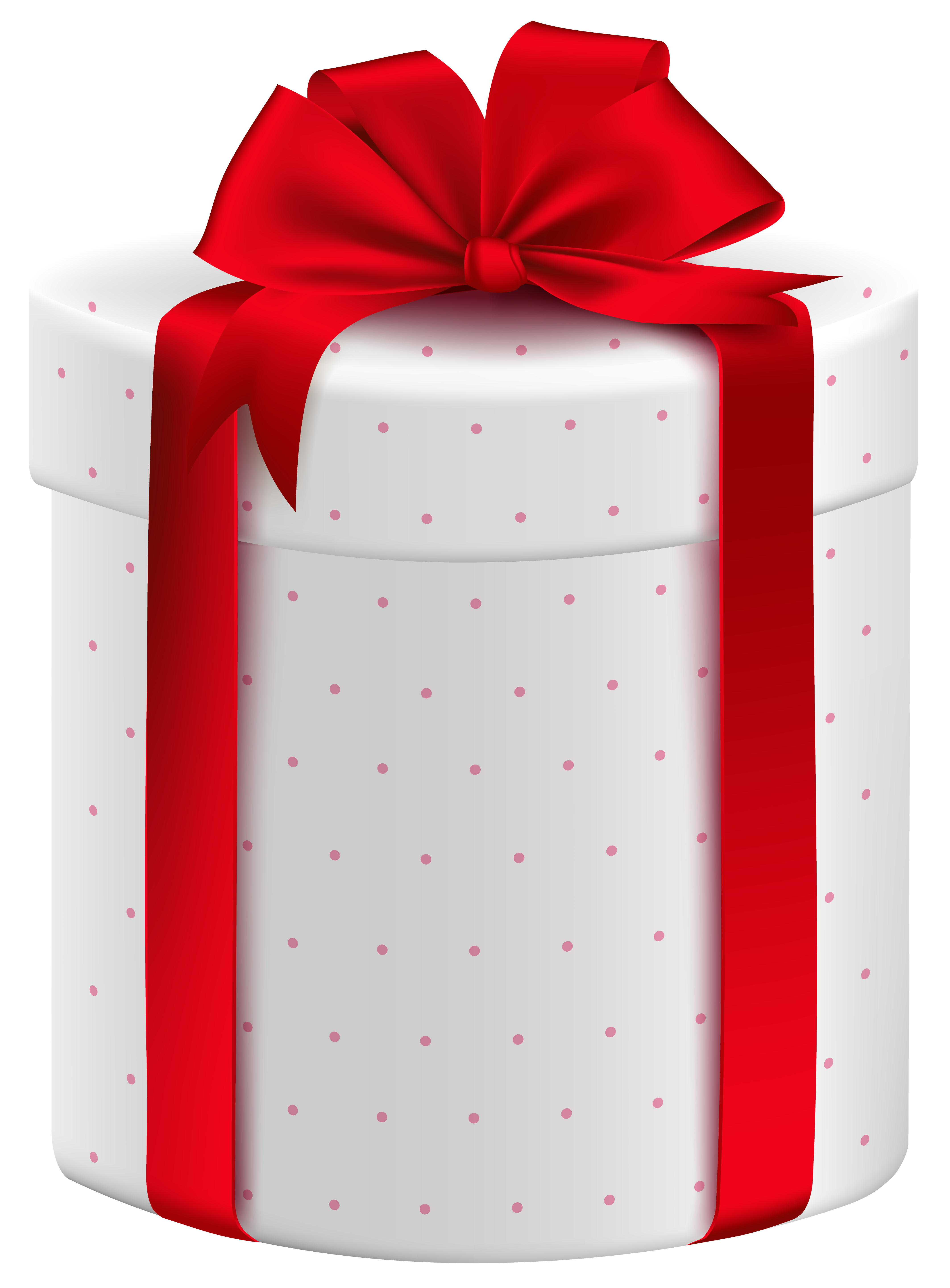 Christmas box clipart image royalty free White Gift Box with Red Bow PNG Clipart Image | What's In The Box ... image royalty free