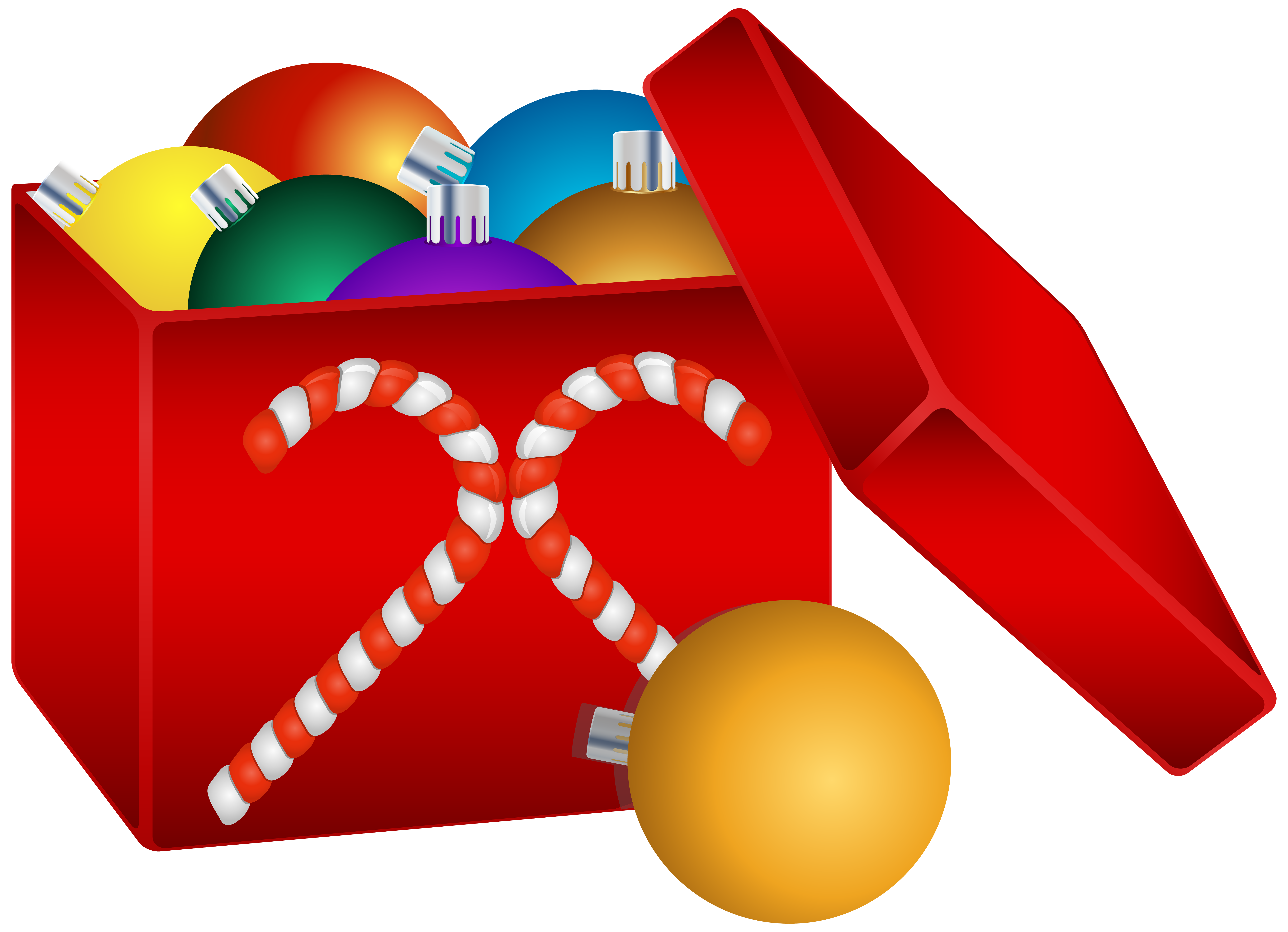 Christmas box clipart vector freeuse stock Christmas Balls in Box Transparent PNG Clip Art Image | Gallery ... vector freeuse stock