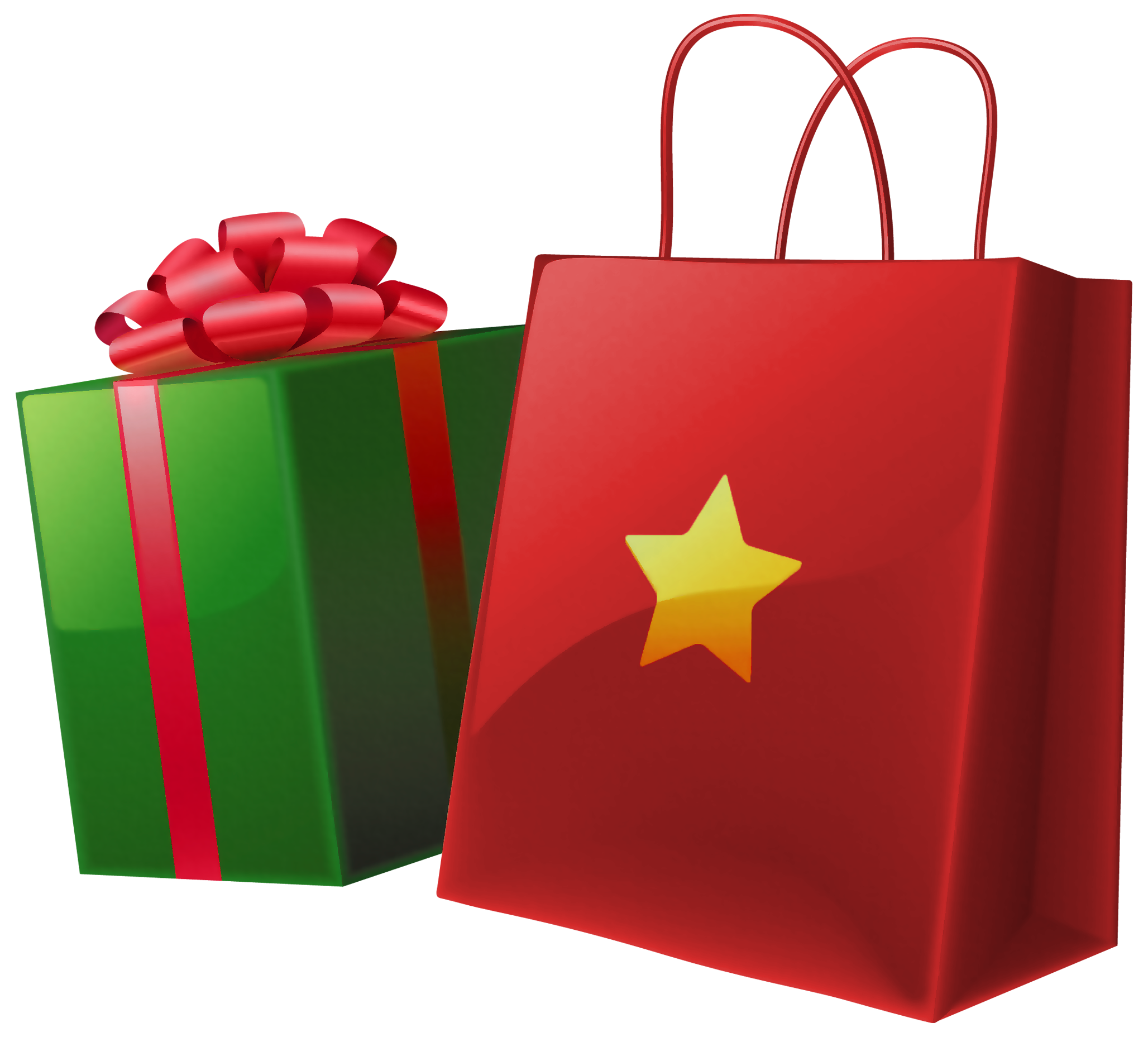 Christmas present clipart png jpg transparent stock Transparent Christmas Gift Box and Bag | Gallery Yopriceville ... jpg transparent stock