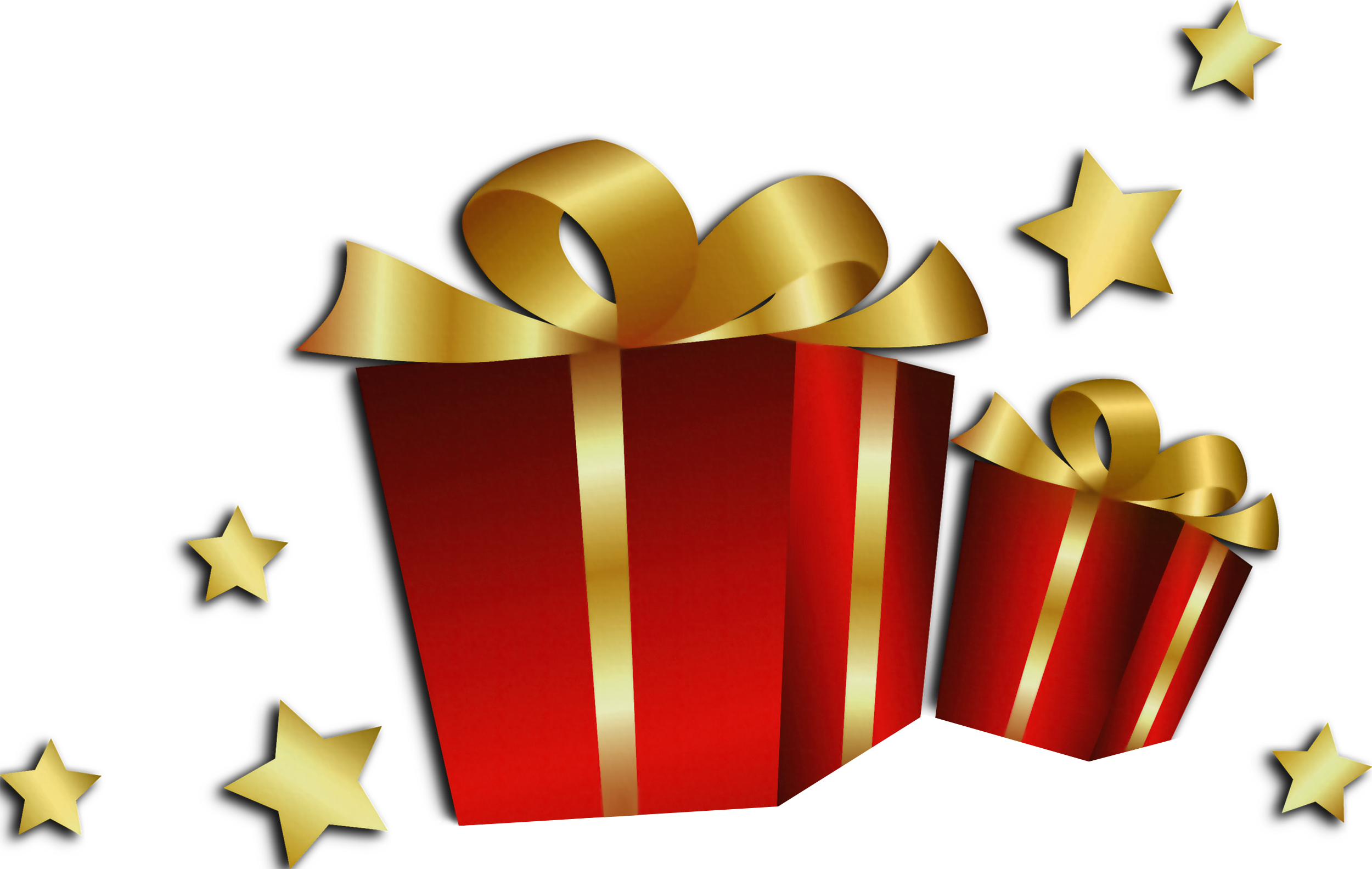 Christmas present clipart free picture freeuse Transparent Christmas Red Gift Boxes | Gallery Yopriceville - High ... picture freeuse