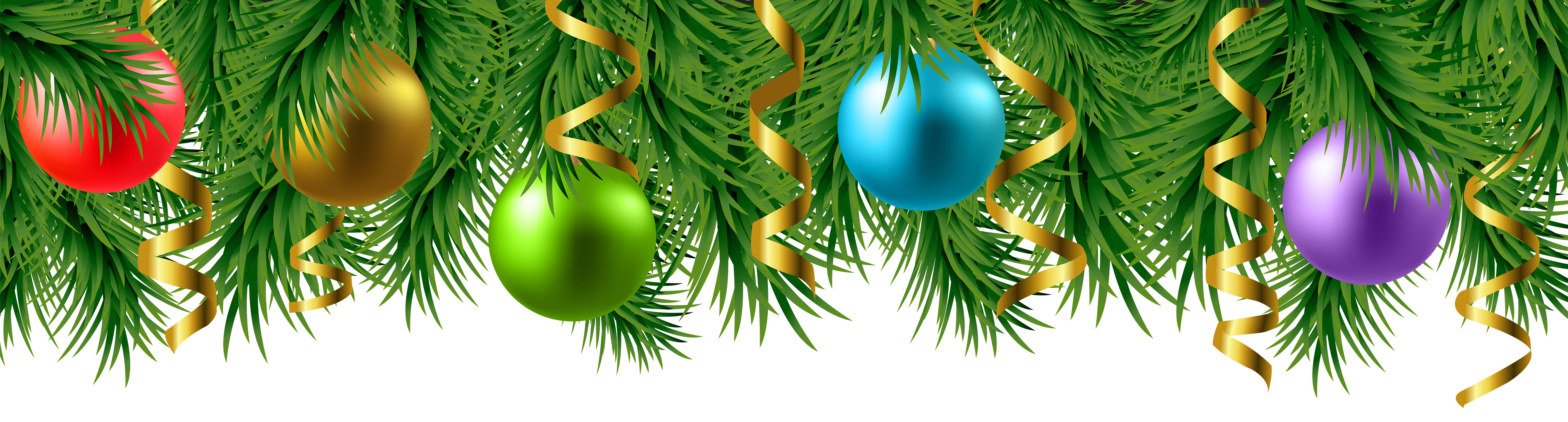 Christmas branches clipart picture library Christmas Deco Branches Transparent PNG Image | Gallery ... picture library