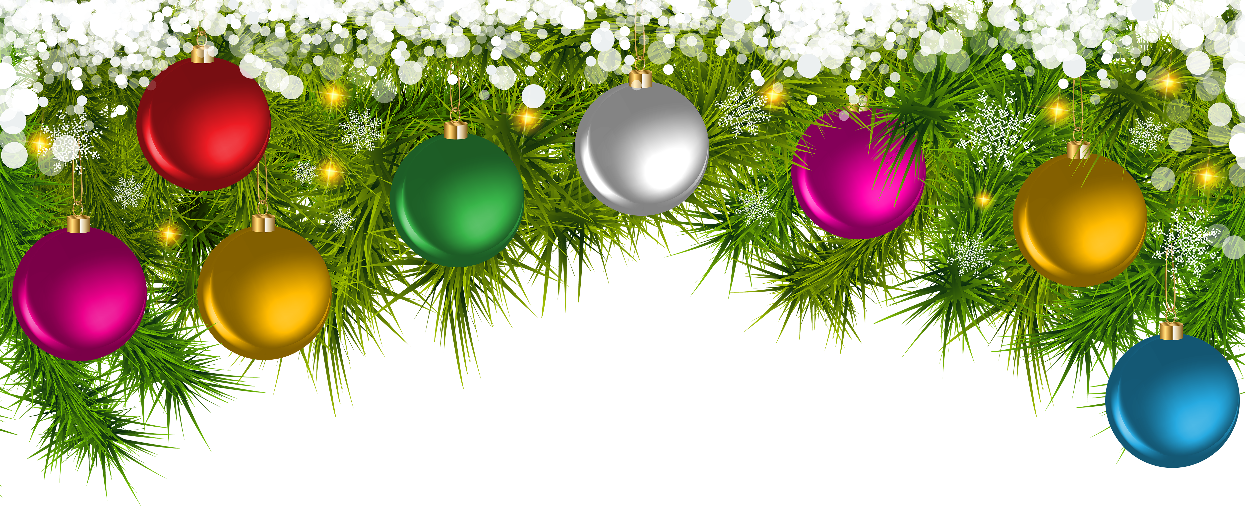 Christmas branches clipart graphic free stock Christmas Pine Branches and Ornaments PNG Clip Art | Gallery ... graphic free stock