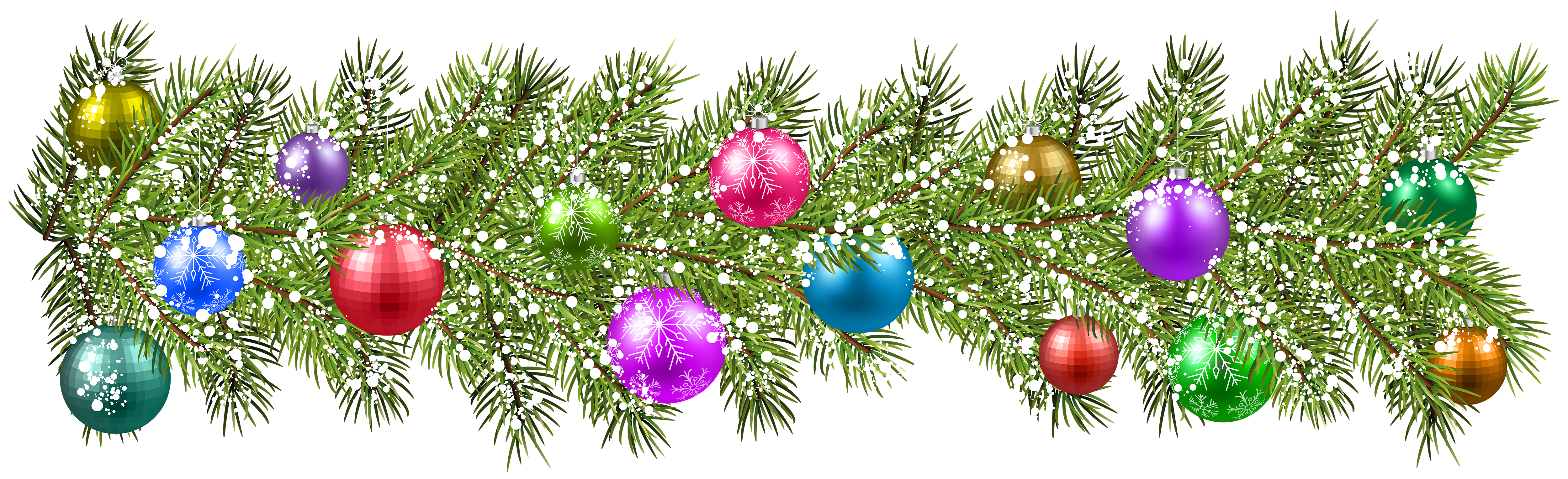 Christmas branches clipart clip art library download Christmas Pine Branches and Christmas Balls PNG Clip Art Image ... clip art library download