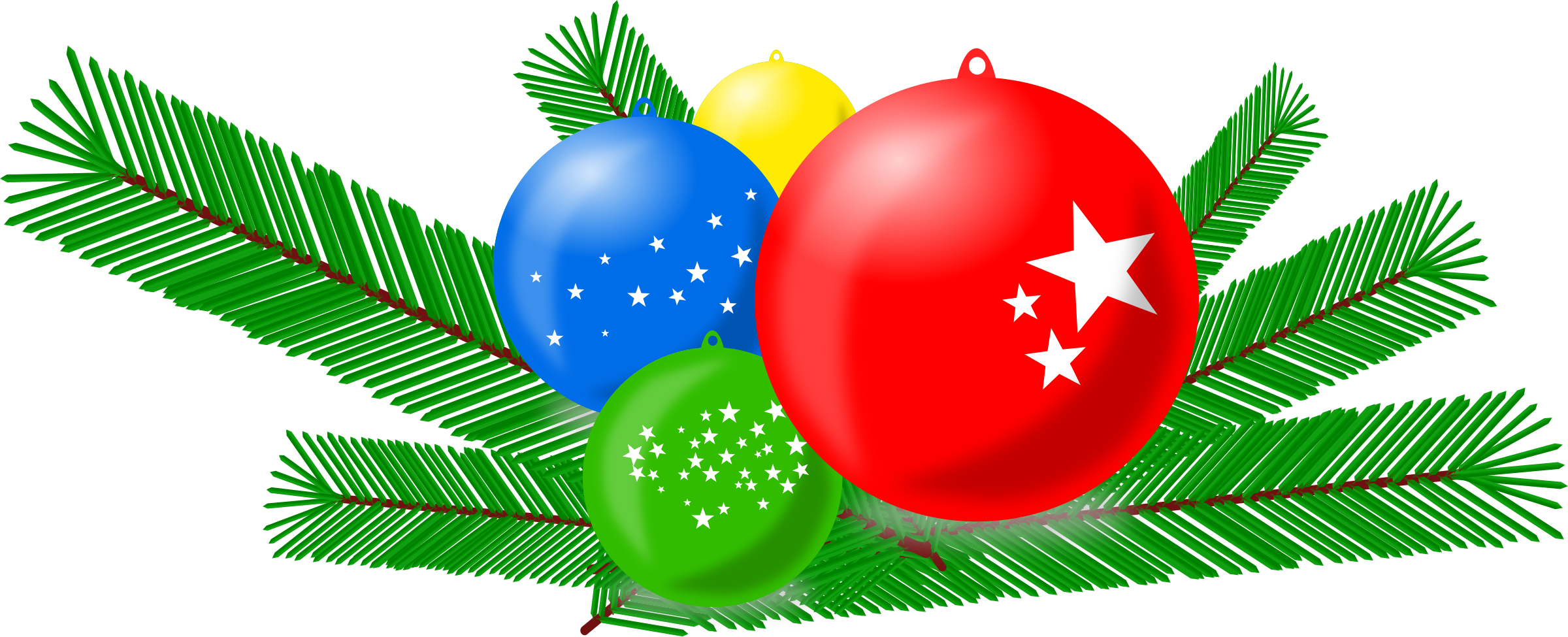 Christmas branches clipart png freeuse library Clipart - Christmas Balls png freeuse library