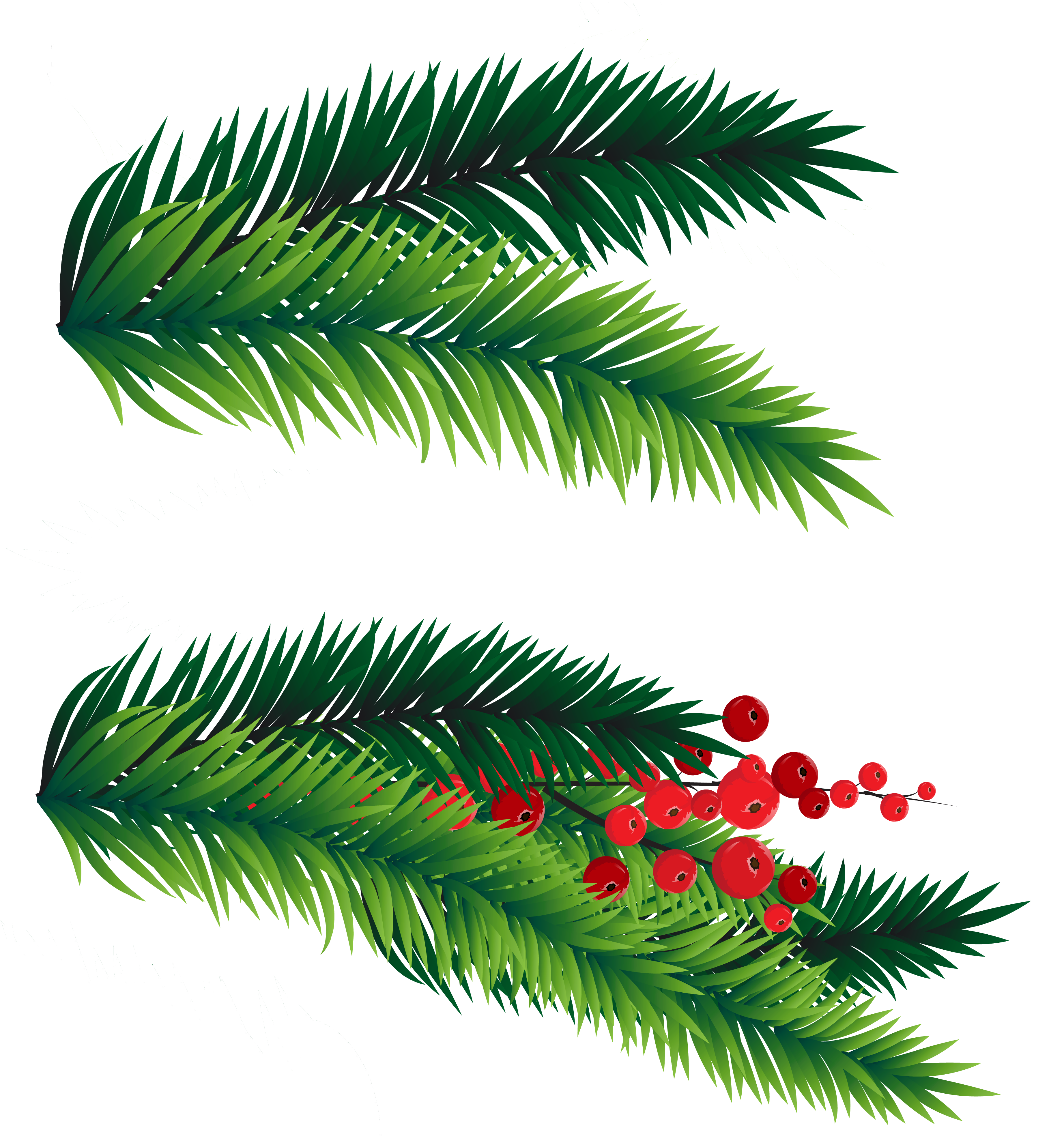 Christmas branches clipart png library stock 28+ Collection of Christmas Tree Branches Clipart | High quality ... png library stock