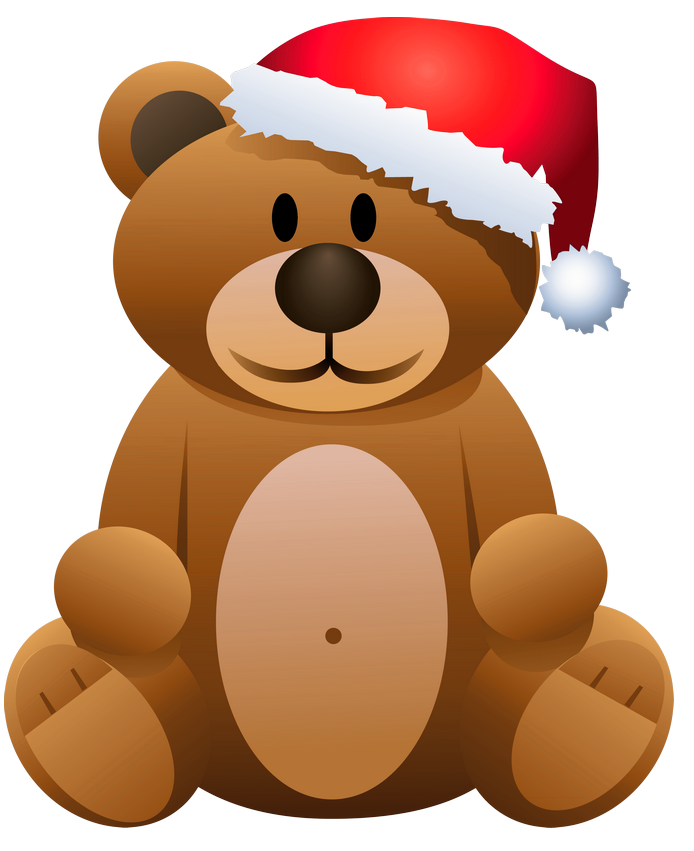 Christmas toy clipart vector royalty free Free christmas bear clipart vector royalty free