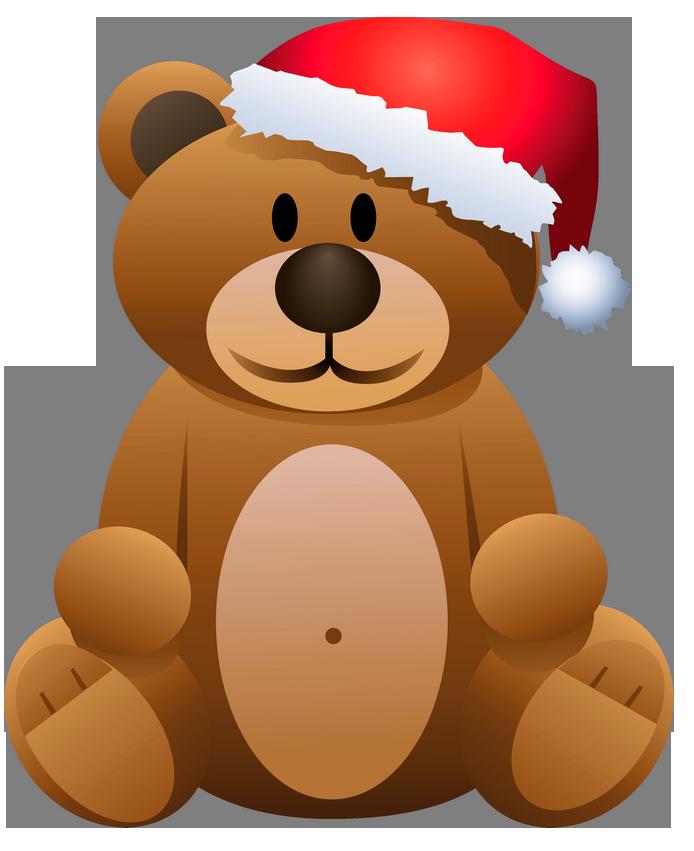 Free christmas bear clipart svg transparent