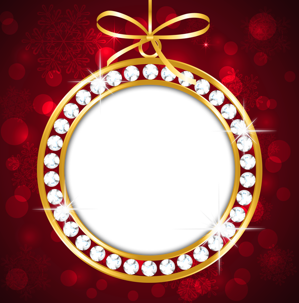 Christmas brunch clipart image royalty free Red and Gold PNG Christmas Frame | background | Pinterest ... image royalty free