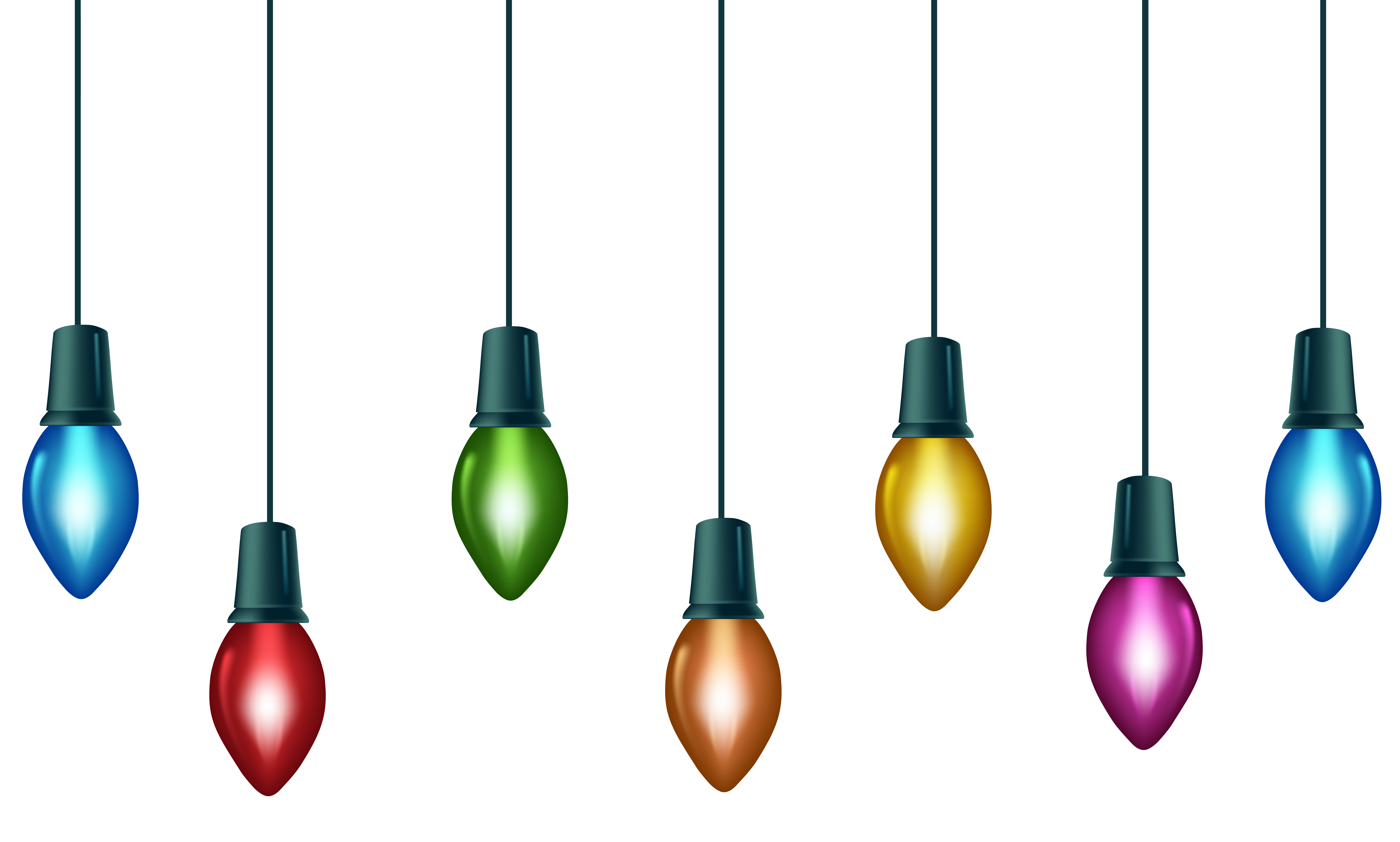Christmas bulbs clipart transparent library Christmas Colorful Bulbs PNG Clip Art Image | Gallery Yopriceville ... transparent library