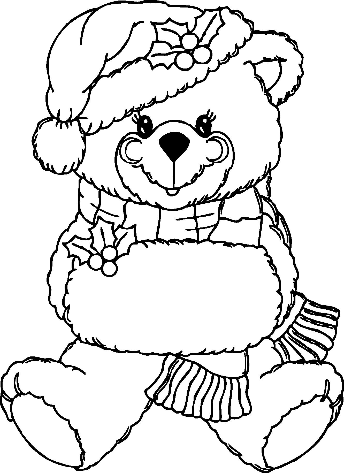 Christmas eve clipart black and white svg transparent library Christmas Teddy Bear Clip Art (43+) svg transparent library