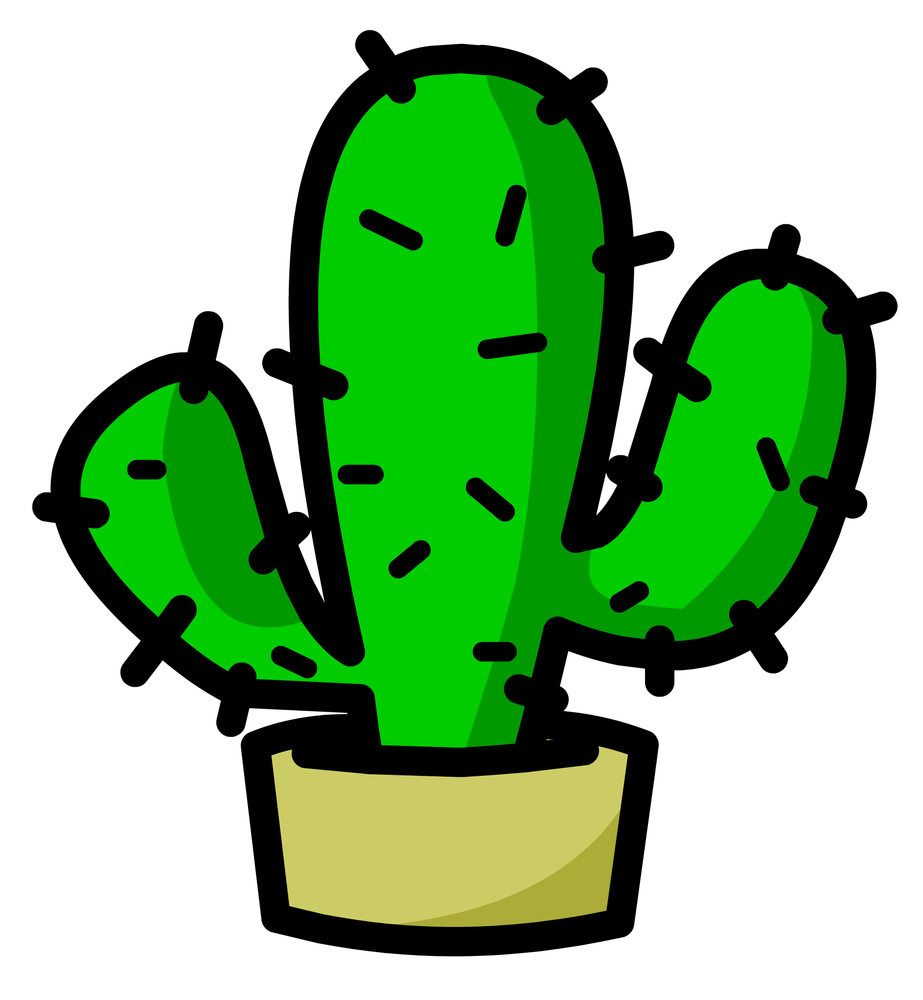 Christmas cactus clipart graphic Cactus Transparent PNG Image | Web Icons PNG graphic