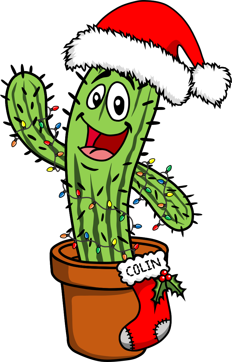 Christmas cactus clipart clip art library stock Cactus Clipart Christmas Cactus Free collection | Download and share ... clip art library stock