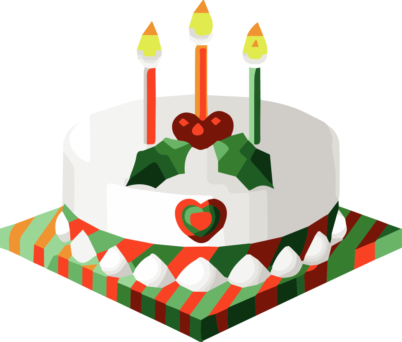 Christmas cake clipart vector royalty free Christmas Birthday Clip Art - List Deluxe vector royalty free