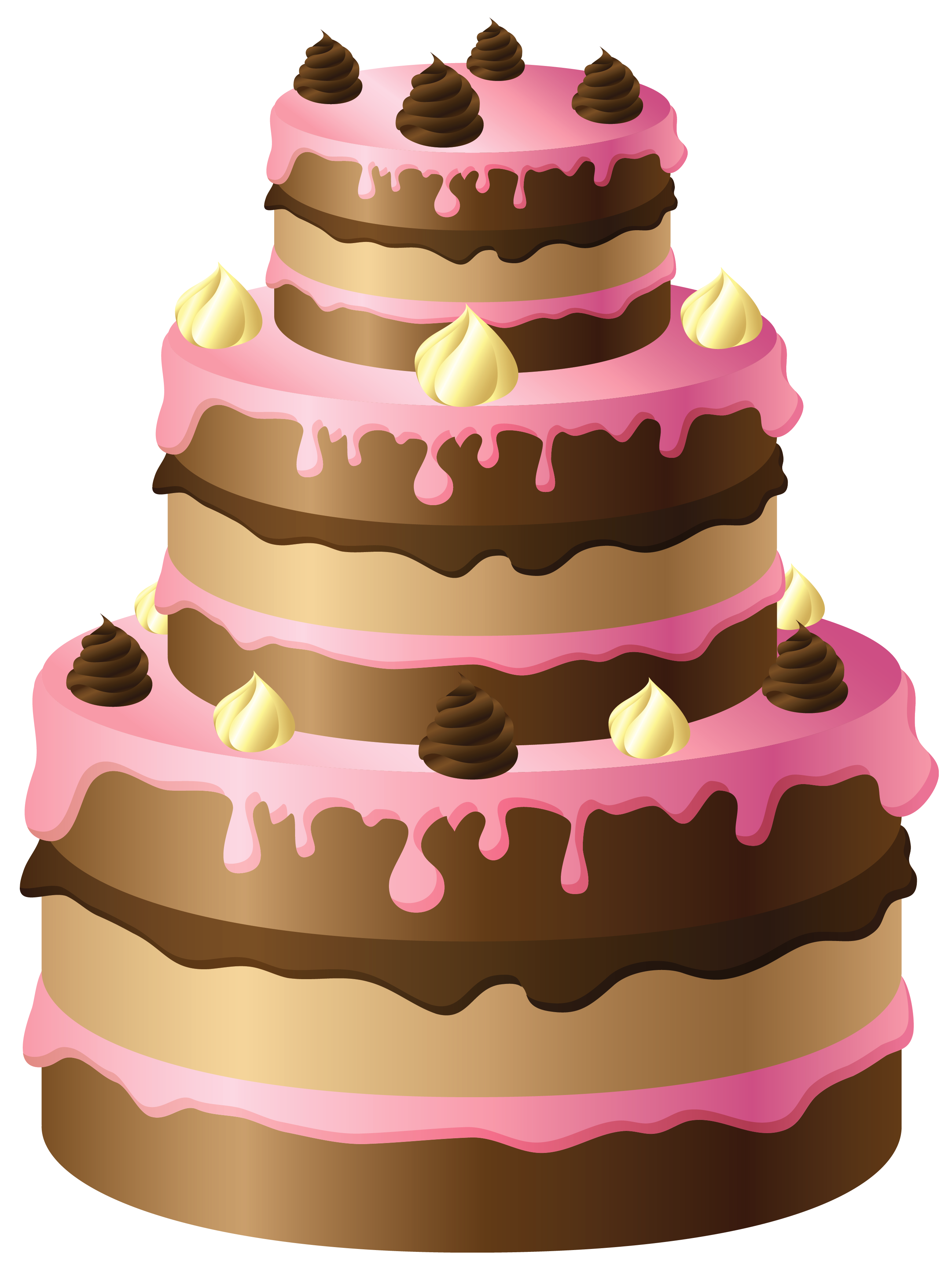 Christmas cake clipart png royalty free Large Chocolate Cake with Pink Cream PNG Clipart   Gallery ... png royalty free
