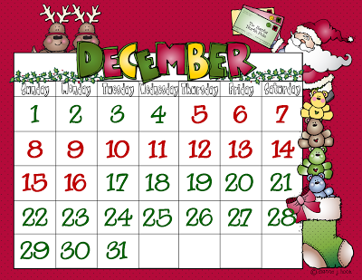 Christmas calendar clip art svg library library Christmas Calendar 2013 Clipart - Clipart Kid svg library library