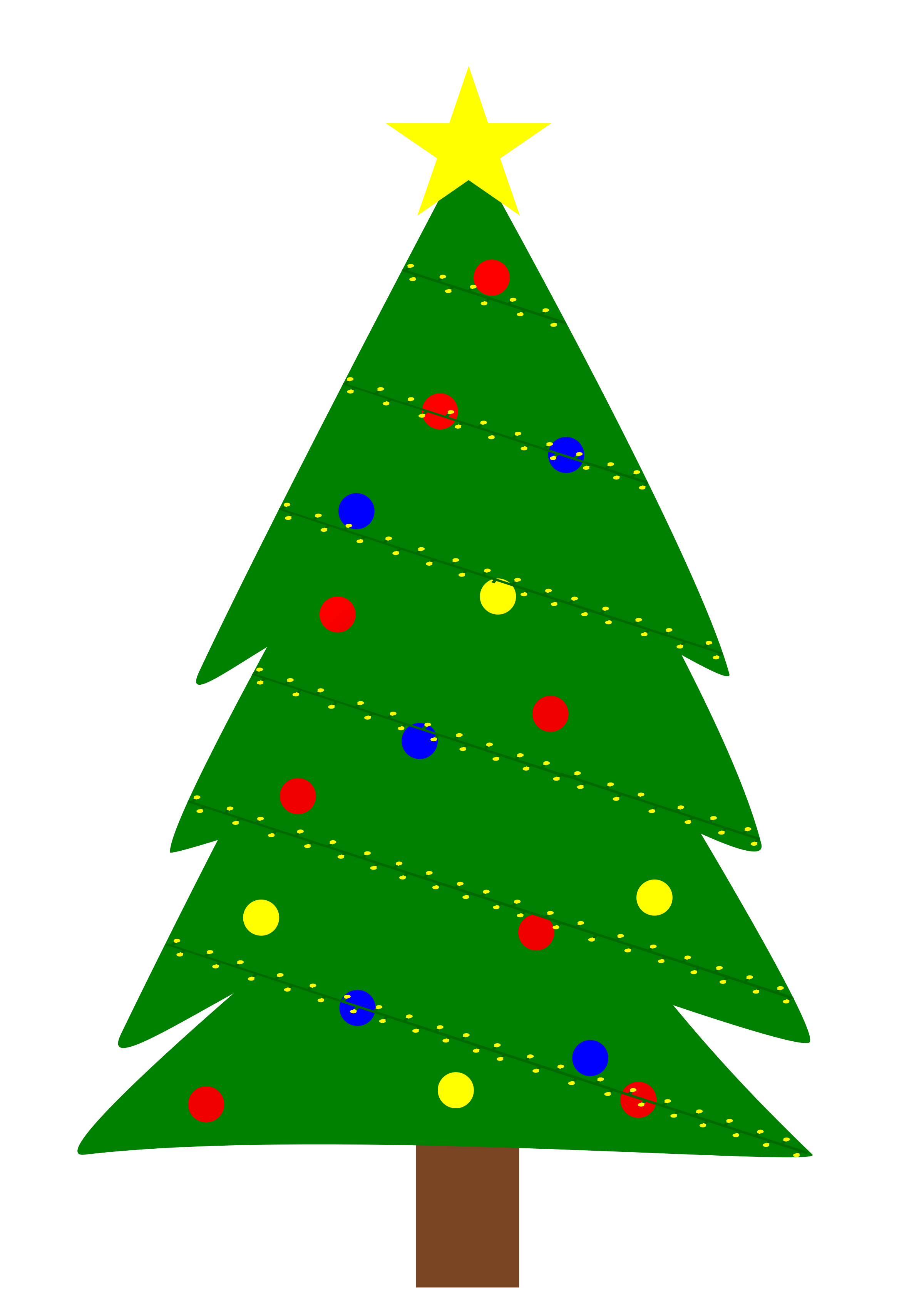 Christmas tree image clipart vector transparent stock Clipart - Christmas tree with lights vector transparent stock