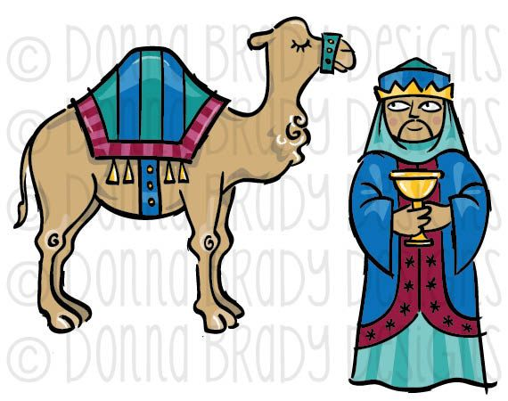 Christmas camel clipart picture image download Jewel Tone Christmas Nativity Three Kings Camel by DonnaBradyDesigns ... image download