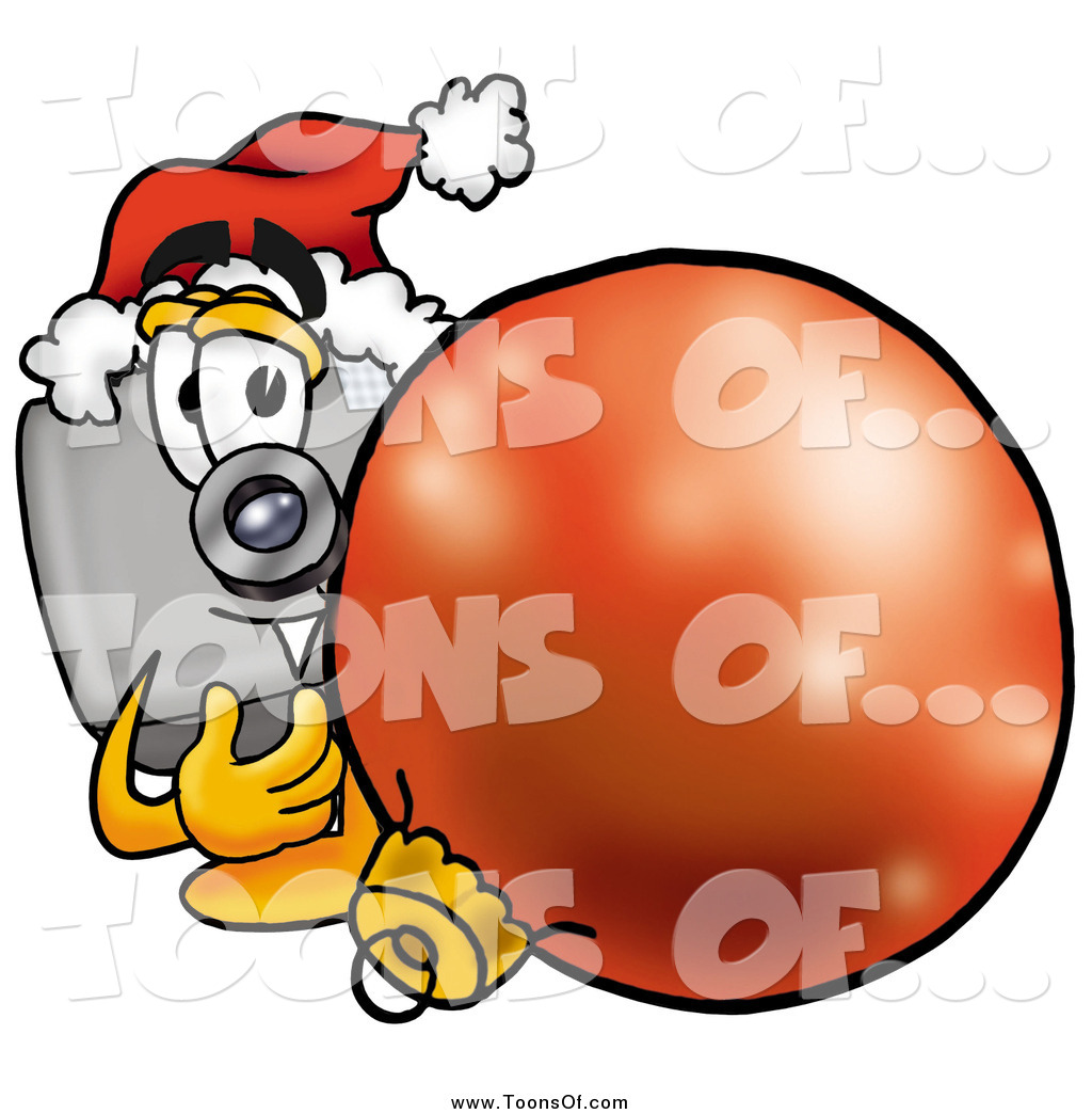 Christmas camera clipart graphic library Clipart of a Camera with a Christmas Bauble by Toons4Biz - #3787 graphic library