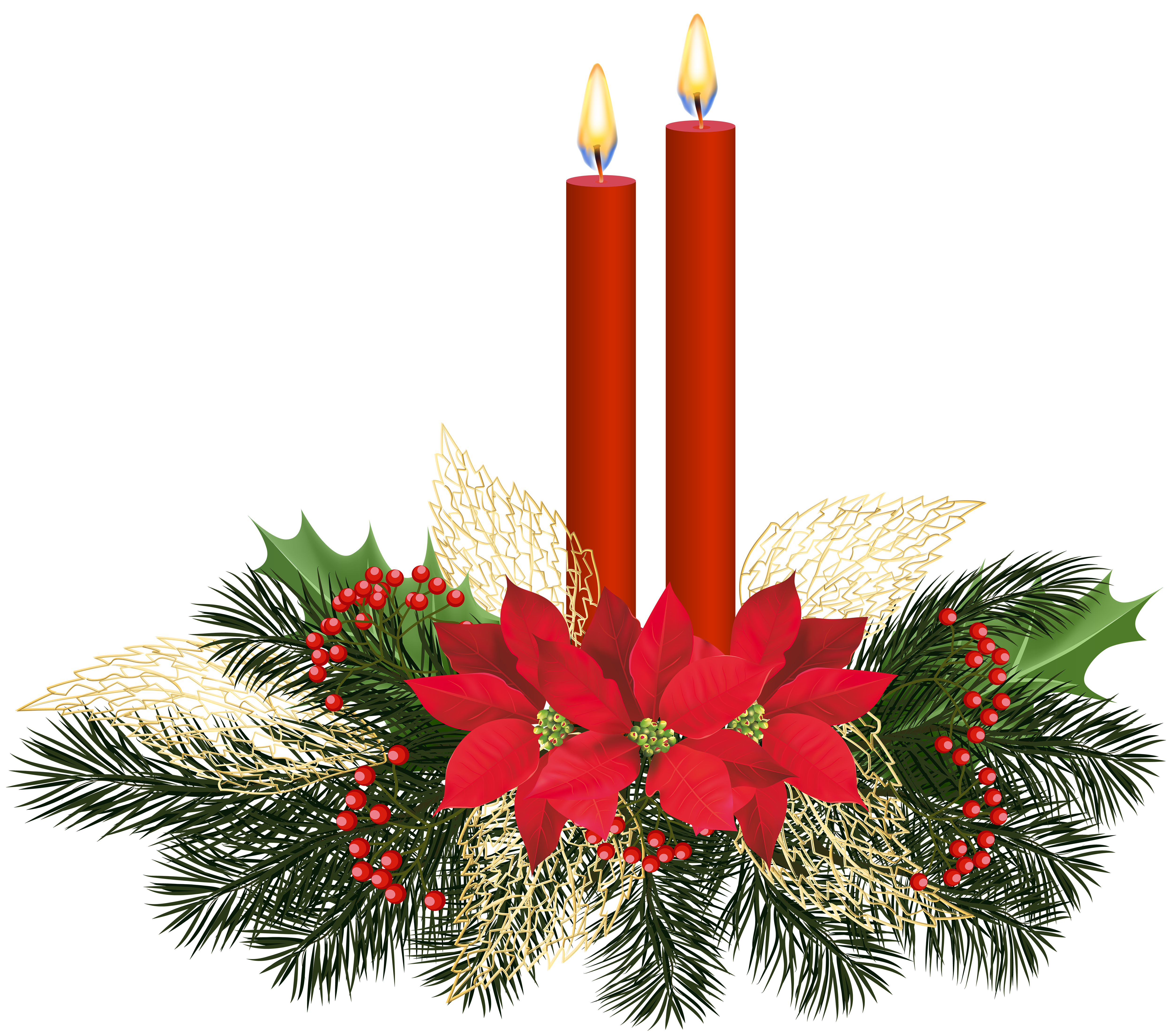Christmas candlelight service clipart png library download Christmas Candles PNG Clip Art | Gallery Yopriceville - High ... png library download