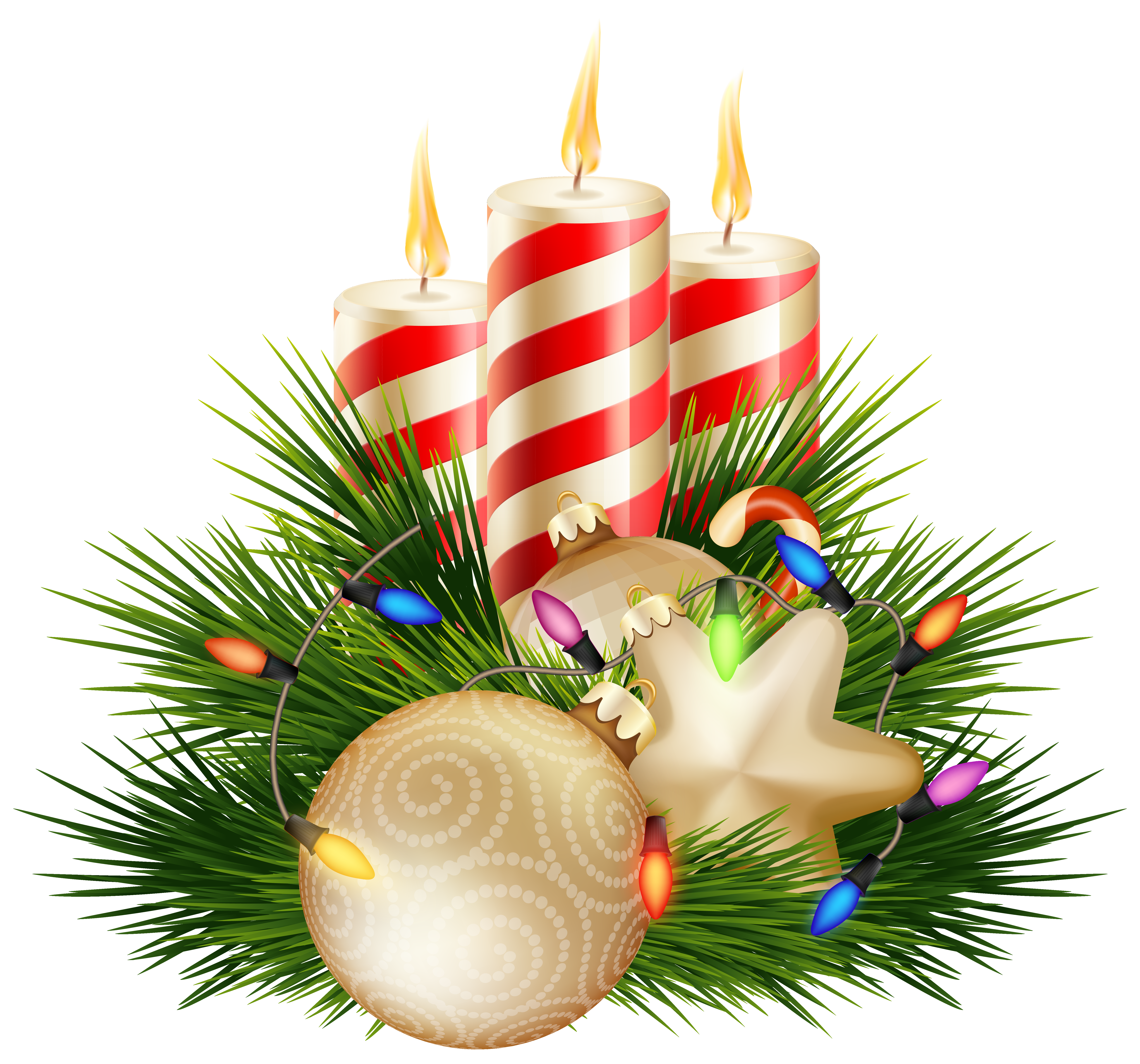 Christmas candles clipart clipart free Christmas Candle Decorative PNG Clipart Image | Gallery ... clipart free