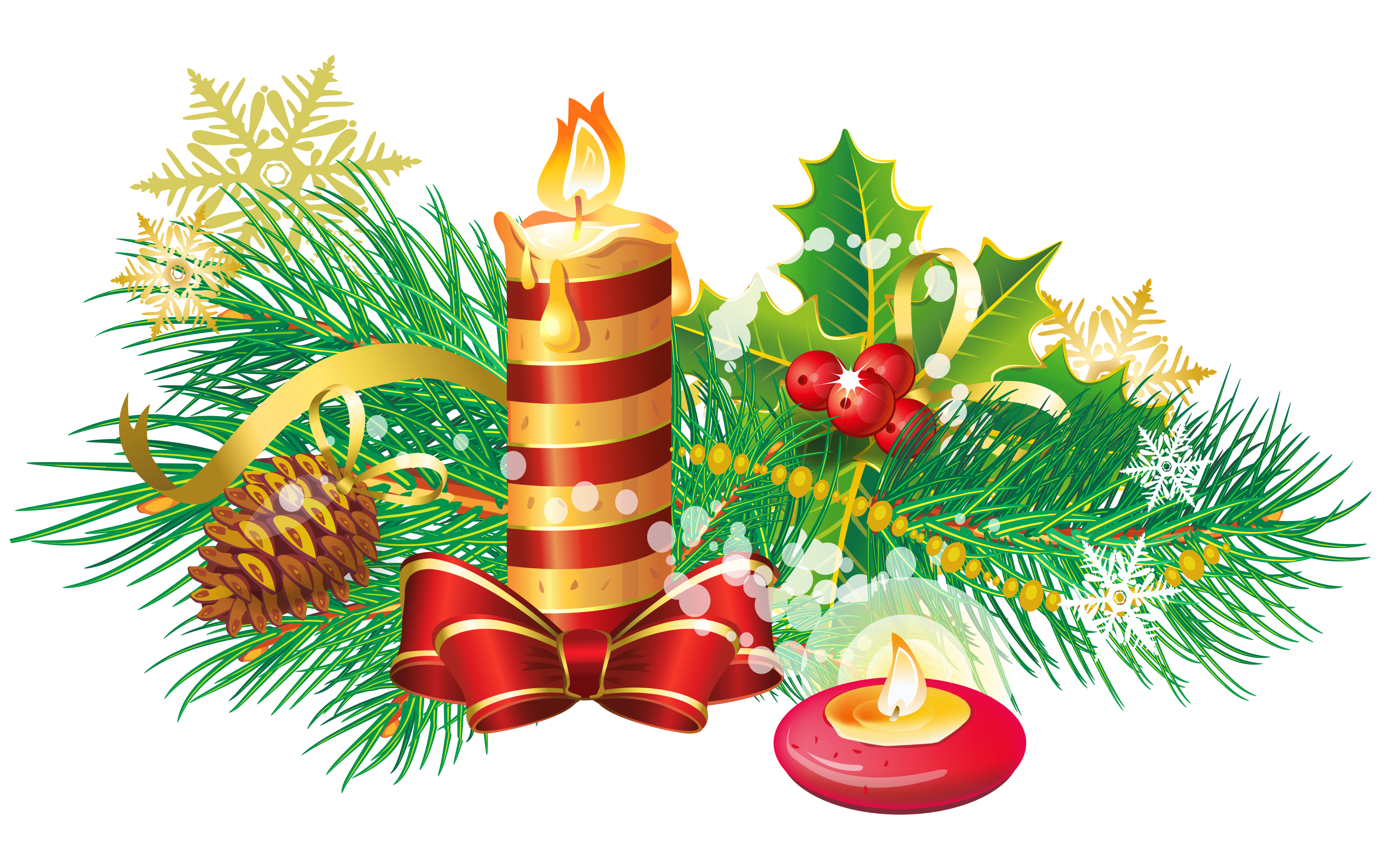 Free downloadable christmas clipart image black and white download Transparent Christmas Candle PNG Clipart | Gallery Yopriceville ... image black and white download