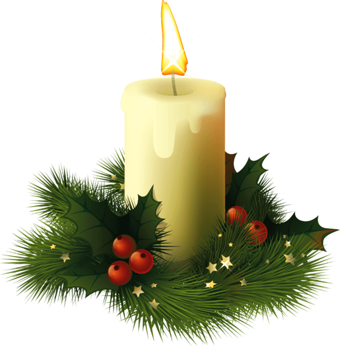 Christmas candles clipart picture black and white Christmas Candle transparent PNG - StickPNG picture black and white
