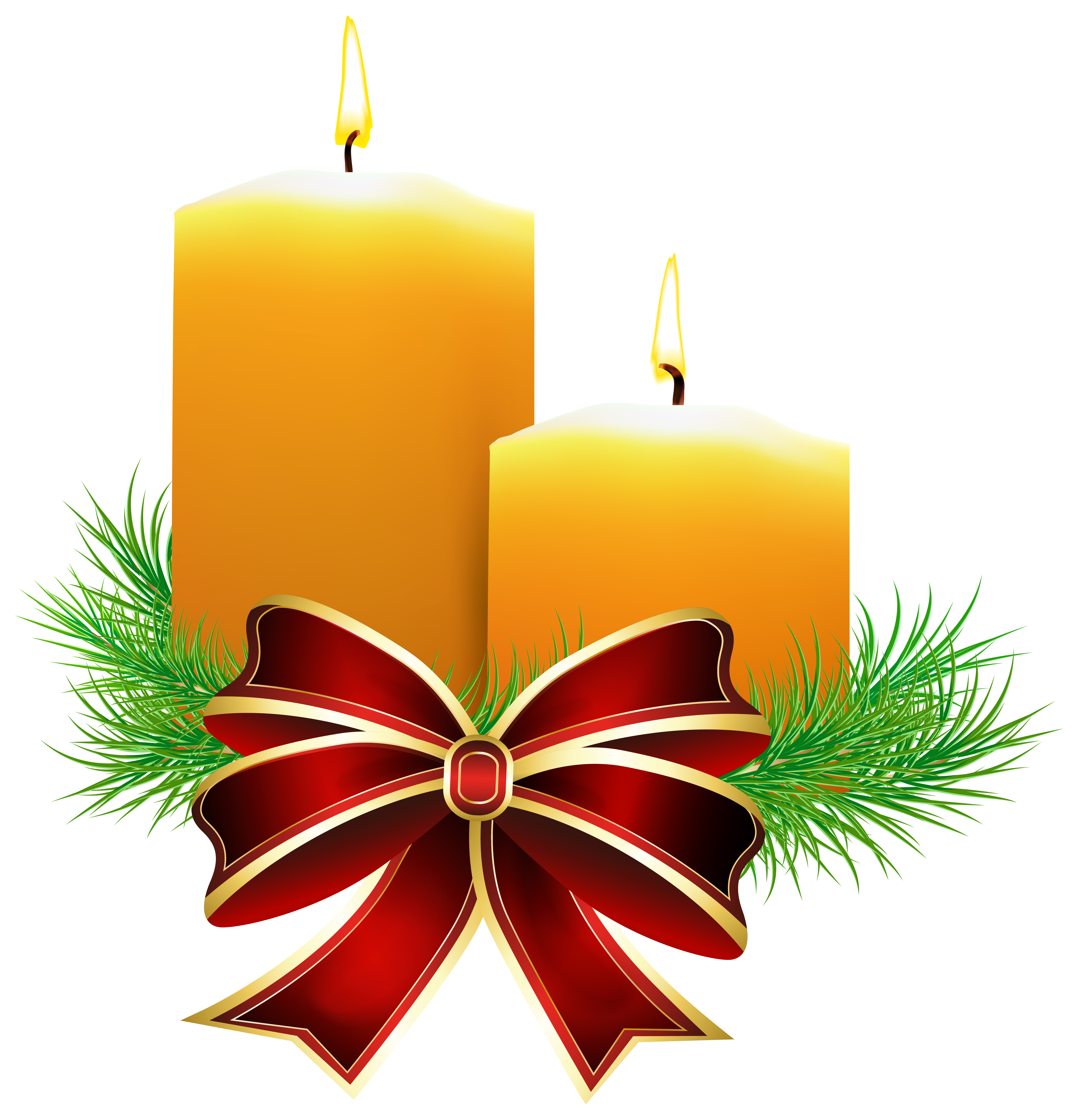 Christmas candle clipart black and white png library library Christmas Candles Transparent PNG Clip Art Image | Gallery ... png library library