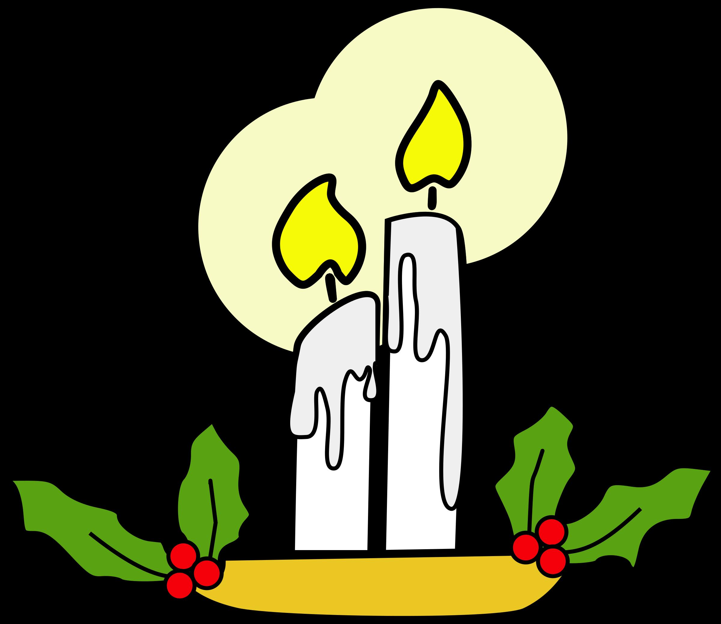 Christmas candles clipart clip transparent stock Clipart - Christmas candles clip transparent stock