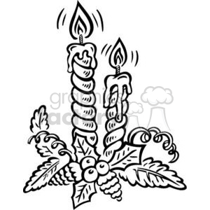 Christmas candles clipart black and white free image free candles clipart - Royalty-Free Images | Graphics Factory image free