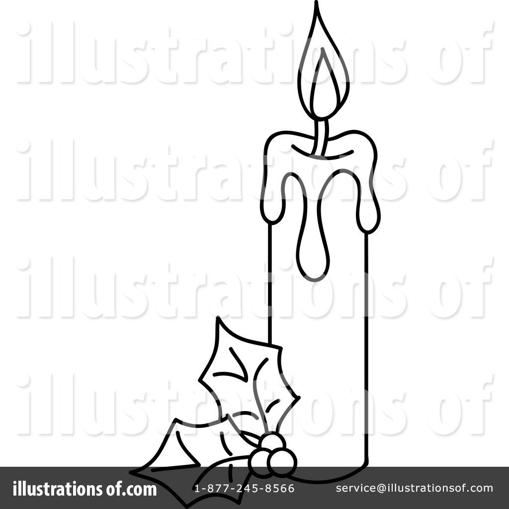 Christmas candles clipart black and white free picture transparent stock Christmas Candle Clipart Black And White | Free download best ... picture transparent stock