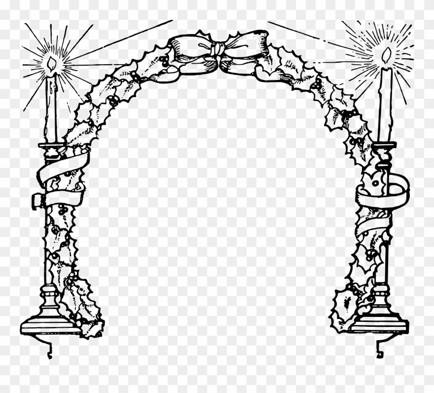 Christmas candles clipart black and white free jpg black and white stock Image Royalty Free Stock Christmas Candle Clipart Black - Bingkai ... jpg black and white stock
